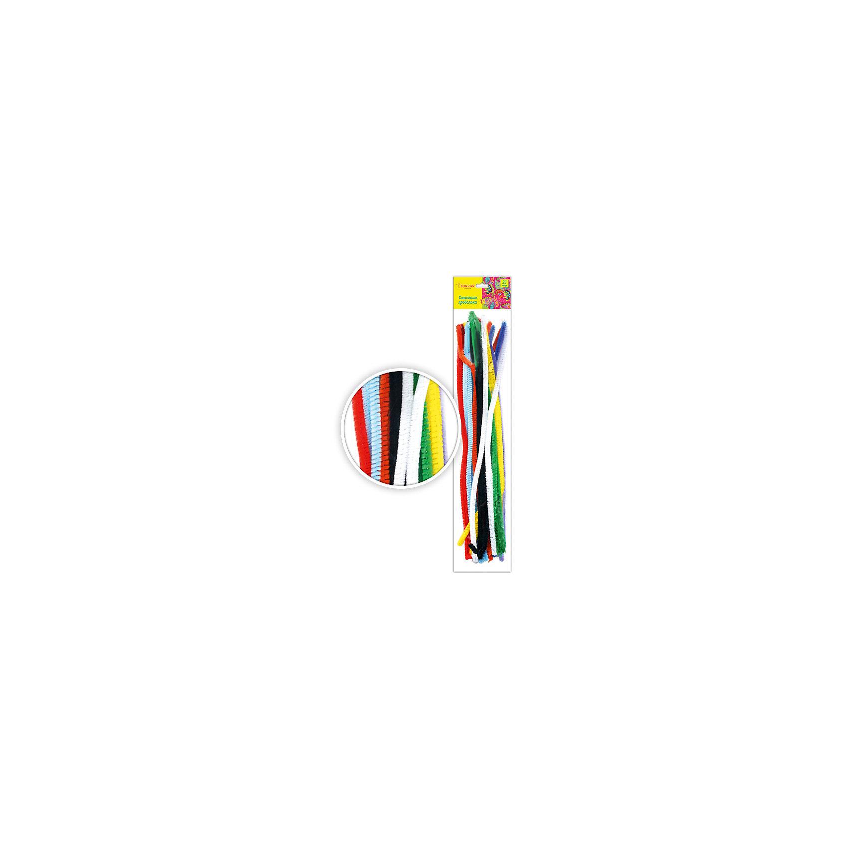 Набор синельной проволоки, 25 шт (цвета ассорти)Последняя цена<br>Набор синельной проволоки, 25 шт (цвета ассорти) от известного торгового бренда канцелярских товаров и товаров для творчества TUKZAR. Пушистая проволока является прекрасным материалом для создания плоских или объемных аппликаций. Этот поделочный материал обладает гибкостью, что позволяет создавать из него любые поделки, кроме того синельная проволока может использоваться в сочетании с другими декоративными материалами. Набор от TUKZAR  из 25 разноцветных плюшевых проволочек, что позволит создать практически любого животного. <br>Поделки из синельной проволоки особенно будут интересны детям дошкольного возраста, работа с данным материалом способствует развитию мелкой моторики и такильным ощущениям.<br><br>Дополнительная информация:<br><br>- Предназначение: для творческих занятий, оформительских работ и декорирования, для аппликаций<br>- Материал: проволока<br>- Комплектация: разноцветная проволока, 25 шт.<br>- Упаковка: блистер<br><br>Подробнее:<br><br>• Для детей в возрасте: от 5 лет <br>• Страна производитель: Китай<br>• Торговый бренд: TUKZAR<br><br>Набор синельной проволоки, 25 шт (цвета ассорти) можно купить в нашем интернет-магазине.<br><br>Ширина мм: 380<br>Глубина мм: 70<br>Высота мм: 30<br>Вес г: 200<br>Возраст от месяцев: 36<br>Возраст до месяцев: 192<br>Пол: Унисекс<br>Возраст: Детский<br>SKU: 5001390