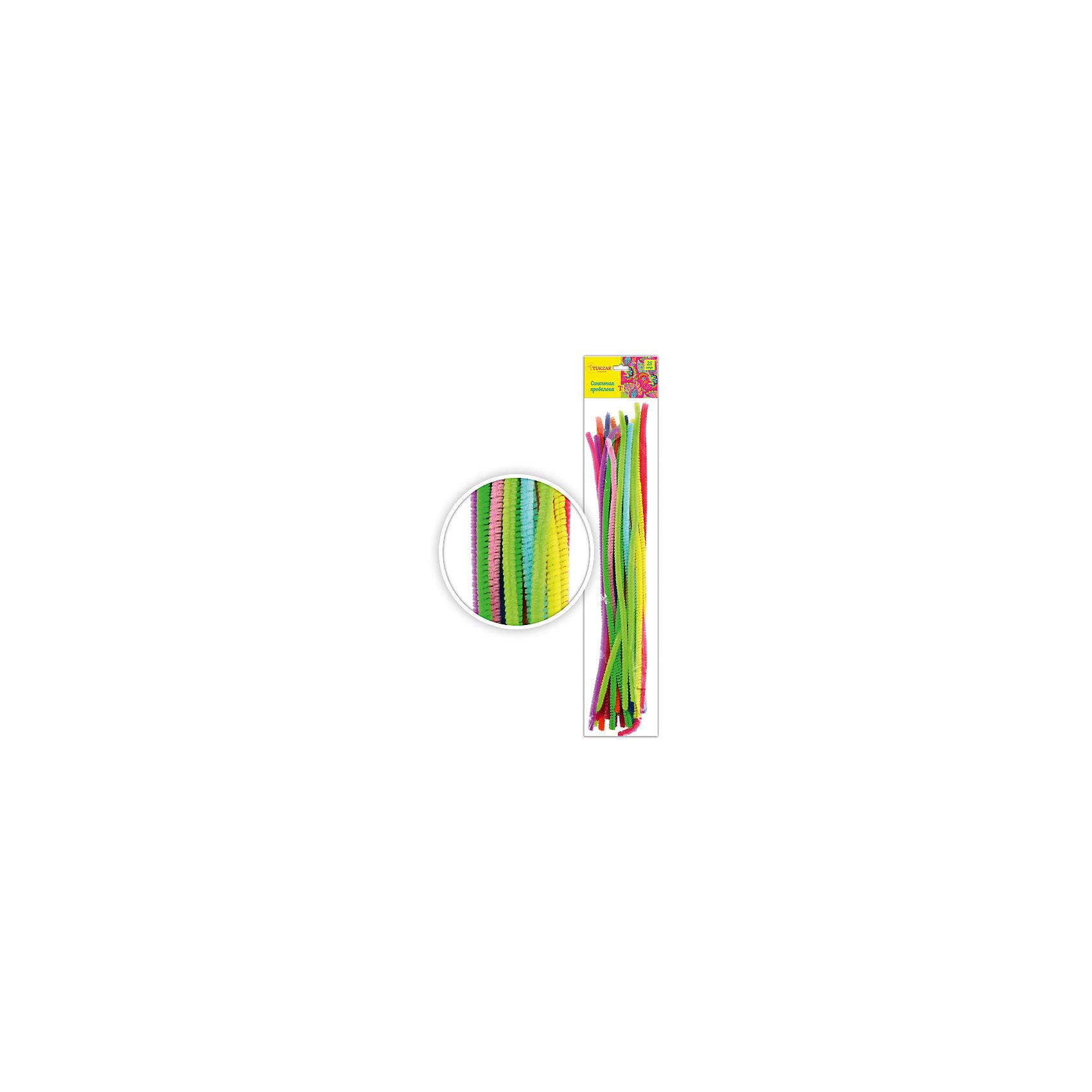 Набор синельной проволоки, 25 шт (цвета ассорти)Набор синельной проволоки, 25 шт (цвета ассорти) от известного торгового бренда канцелярских товаров и товаров для творчества TUKZAR. Пушистая проволока является прекрасным материалом для создания плоских или объемных аппликаций. Этот поделочный материал обладает гибкостью, что позволяет создавать из него любые поделки, кроме того синельная проволока может использоваться в сочетании с другими декоративными материалами. Набор от TUKZAR  из 25 разноцветных плюшевых проволочек, что позволит создать практически любого животного. <br>Поделки из синельной проволоки особенно будут интересны детям дошкольного возраста, работа с данным материалом способствует развитию мелкой моторики и такильным ощущениям.<br><br>Дополнительная информация:<br><br>- Предназначение: для творческих занятий, оформительских работ и декорирования, для аппликаций<br>- Материал: проволока<br>- Комплектация: разноцветная проволока, 25 шт.<br>- Упаковка: блистер<br><br>Подробнее:<br><br>• Для детей в возрасте: от 5 лет <br>• Страна производитель: Китай<br>• Торговый бренд: TUKZAR<br><br>Набор синельной проволоки, 25 шт (цвета ассорти) можно купить в нашем интернет-магазине.<br><br>Ширина мм: 380<br>Глубина мм: 70<br>Высота мм: 30<br>Вес г: 200<br>Возраст от месяцев: 36<br>Возраст до месяцев: 192<br>Пол: Унисекс<br>Возраст: Детский<br>SKU: 5001391