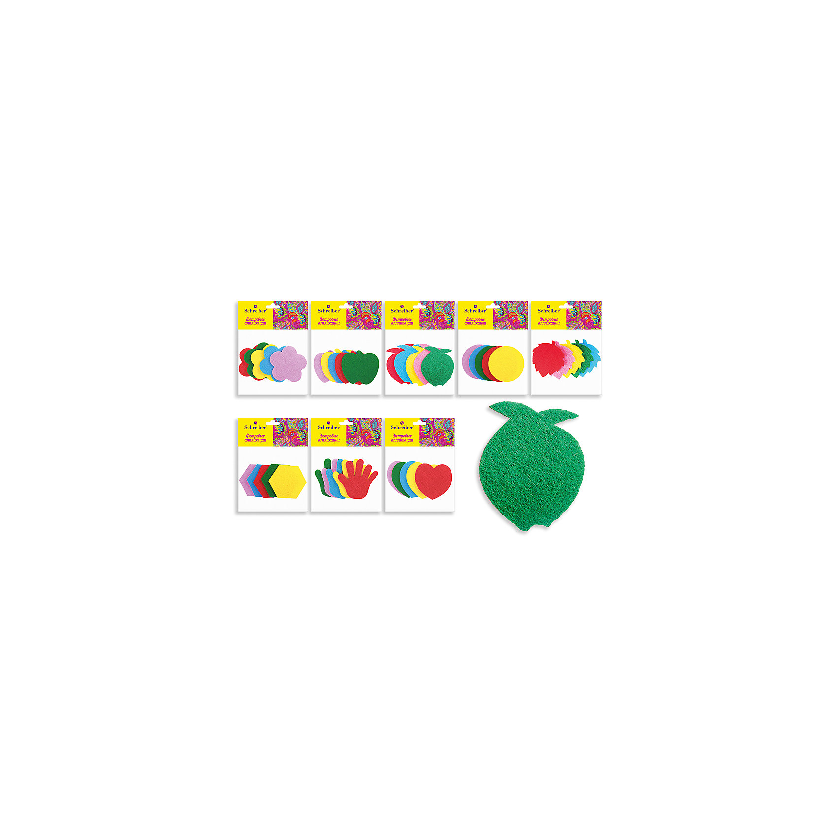 Фетровые аппликации 12*10 см (8 дизайнов в ассортименте)Рукоделие<br>Фетровые аппликации 12*10 см (8 дизайнов в ассортименте) от известного торгового бренда канцелярских товаров и товаров для творчества TUKZAR. Набор включает в себя разноцветные заготовки животных, растений и других предметов для занятий аппликацией с детьми дошкольного и младшего школьного возраста. Комплектация позволяет создавать сюжетные картинки. Кроме того, данные заготовки можно использовать в качестве меток для детской одежды.<br>Фетровые аппликации 12*10 см (8 дизайнов в ассортименте) способствуют развитию у ребенка внимания, усидчивости, воображения и фантазии.<br><br>Дополнительная информация:<br><br>- Предназначение: для аппликаций<br>- Материал: фетр<br>- Комплектация: 8 дизайнов (кружочки, цветочки, сердечки, листики, яблочки, ладошки и др.)<br>- Размеры упаковки (Д*В): 10*12 см<br>- Упаковка: полиэтилен<br><br>Подробнее:<br><br>• Для детей в возрасте: от 3 лет <br>• Страна производитель: Китай<br>• Торговый бренд: TUKZAR<br><br>Фетровые аппликации 12*10 см (8 дизайнов в ассортименте) можно купить в нашем интернет-магазине.<br><br>Ширина мм: 120<br>Глубина мм: 100<br>Высота мм: 10<br>Вес г: 50<br>Возраст от месяцев: 36<br>Возраст до месяцев: 72<br>Пол: Унисекс<br>Возраст: Детский<br>SKU: 5001407