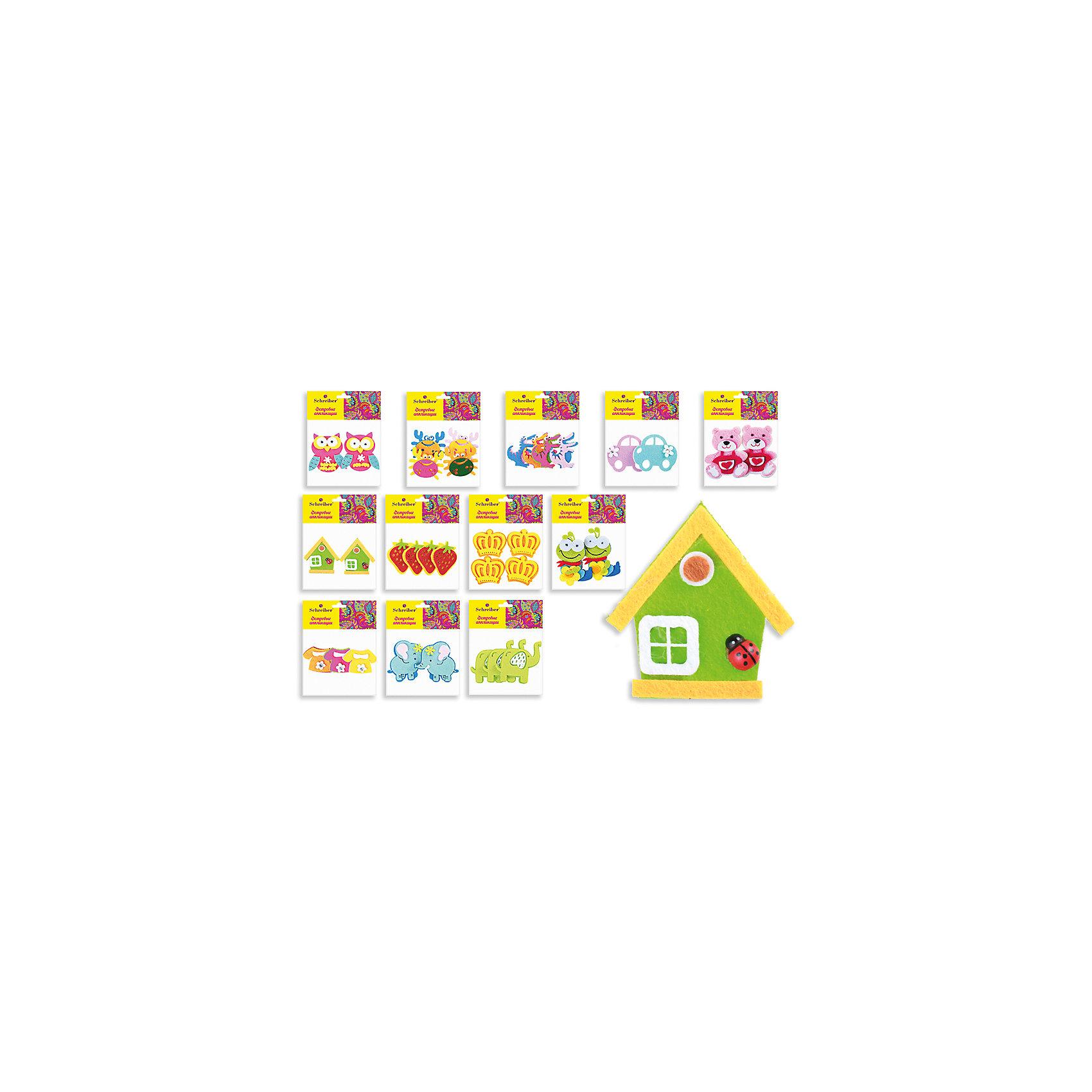 Фетровые аппликации 12*10 см (12 дизайнов в ассортименте)Фетровые аппликации 12*10 см (12 дизайнов в ассортименте) от известного торгового бренда канцелярских товаров и товаров для творчества TUKZAR. Набор включает в себя разноцветные заготовки животных, растений и других предметов для занятий аппликацией с детьми дошкольного и младшего школьного возраста. Комплектация позволяет создавать сюжетные картинки. Кроме того, данные заготовки можно использовать в качестве меток для детской одежды.<br>Фетровые аппликации 12*10 см (12 дизайнов в ассортименте) способствуют развитию у ребенка внимания, усидчивости, воображения и фантазии.<br><br>Дополнительная информация:<br><br>- Предназначение: для аппликаций<br>- Материал: фетр<br>- Комплектация: 12 дизайнов (слоники, совушки, крабики, машинки, домики, медвежата, ягодки и др.)<br>- Размеры упаковки (Д*В): 10*12 см<br>- Упаковка: полиэтилен<br><br>Подробнее:<br><br>• Для детей в возрасте: от 3 лет <br>• Страна производитель: Китай<br>• Торговый бренд: TUKZAR<br><br>Фетровые аппликации 12*10 см (12 дизайнов в ассортименте) можно купить в нашем интернет-магазине.<br><br>Ширина мм: 120<br>Глубина мм: 100<br>Высота мм: 10<br>Вес г: 50<br>Возраст от месяцев: 36<br>Возраст до месяцев: 72<br>Пол: Унисекс<br>Возраст: Детский<br>SKU: 5001408