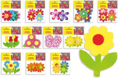 Schreiber Фетровые аппликации Цветы 12*10 см (12 дизайнов в ассортименте)