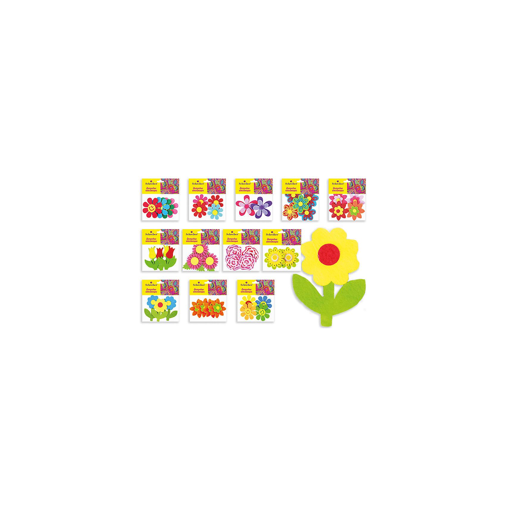 Фетровые аппликации Цветы 12*10 см (12 дизайнов в ассортименте)Рукоделие<br>Фетровые аппликации Цветы 12*10 см (12 дизайнов в ассортименте) от известного торгового бренда канцелярских товаров и товаров для творчества TUKZAR. Набор включает в себя разноцветные заготовки животных, растений и других предметов для занятий аппликацией с детьми дошкольного и младшего школьного возраста. Комплектация позволяет создавать сюжетные картинки. Кроме того, данные заготовки можно использовать в качестве меток для детской одежды.<br>Фетровые аппликации Цветы 12*10 см (12 дизайнов в ассортименте) способствуют развитию у ребенка внимания, усидчивости, воображения и фантазии.<br><br>Дополнительная информация:<br><br>- Предназначение: для аппликаций<br>- Материал: фетр<br>- Комплектация: 12 дизайнов (цветочки)<br>- Размеры упаковки (Д*В): 10*12 см<br>- Упаковка: полиэтилен<br><br>Подробнее:<br><br>• Для детей в возрасте: от 3 лет <br>• Страна производитель: Китай<br>• Торговый бренд: TUKZAR<br><br>Фетровые аппликации Цветы 12*10 см (12 дизайнов в ассортименте) можно купить в нашем интернет-магазине.<br><br>Ширина мм: 120<br>Глубина мм: 100<br>Высота мм: 10<br>Вес г: 50<br>Возраст от месяцев: 36<br>Возраст до месяцев: 72<br>Пол: Унисекс<br>Возраст: Детский<br>SKU: 5001410