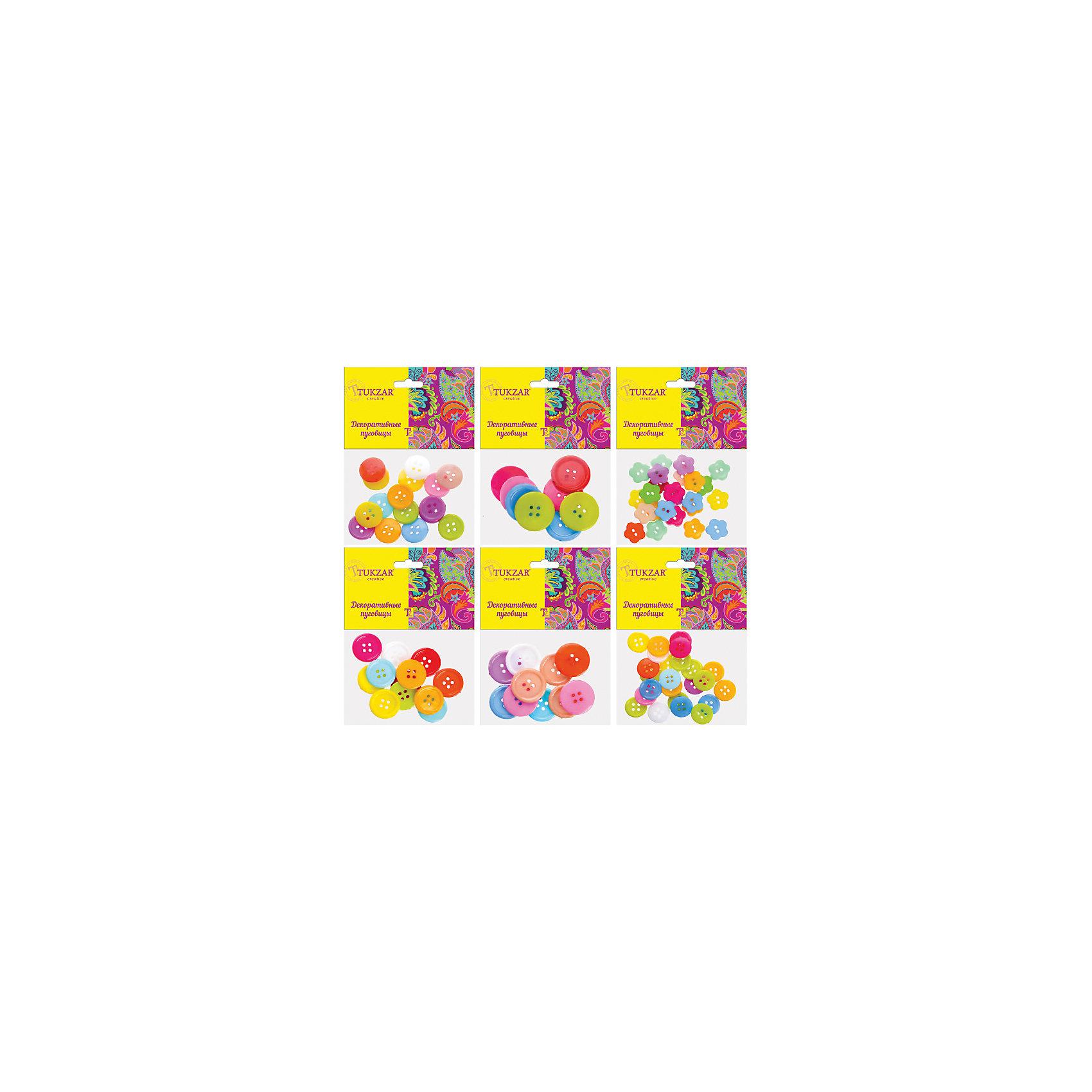 Деревянные элементы для декора Пуговицы, 6 дизайнов в ассортиментеДеревянные элементы для декора Пуговицы, 6 дизайнов в ассортименте от известного торгового бренда канцелярских товаров и товаров для творчества TUKZAR. Пуговицы можно использовать для оформления и декорирования ручных поделок, оформления подарочной упаковки или в качестве дополнительных элементов для создания авторских узоров и аксессуаров. Набор включает в себяпуговицы, выполненные из дерева, разнообразных размеров, форм и цветов. <br><br>Дополнительная информация:<br><br>- Предназначение: для творческих занятий, оформительских работ и декорирования<br>- Материал: дерево<br>- Комплектация: деревянные пуговины в 6-ти дизайнах<br>- Размер: 8*10 см<br>- Упаковка: полиэтилен<br><br>Подробнее:<br><br>• Для детей в возрасте: от 5 лет <br>• Страна производитель: Китай<br>• Торговый бренд: TUKZAR<br><br>Деревянные элементы для декора Пуговицы, 6 дизайнов в ассортименте можно купить в нашем интернет-магазине.<br><br>Ширина мм: 80<br>Глубина мм: 100<br>Высота мм: 10<br>Вес г: 50<br>Возраст от месяцев: 36<br>Возраст до месяцев: 192<br>Пол: Унисекс<br>Возраст: Детский<br>SKU: 5001414