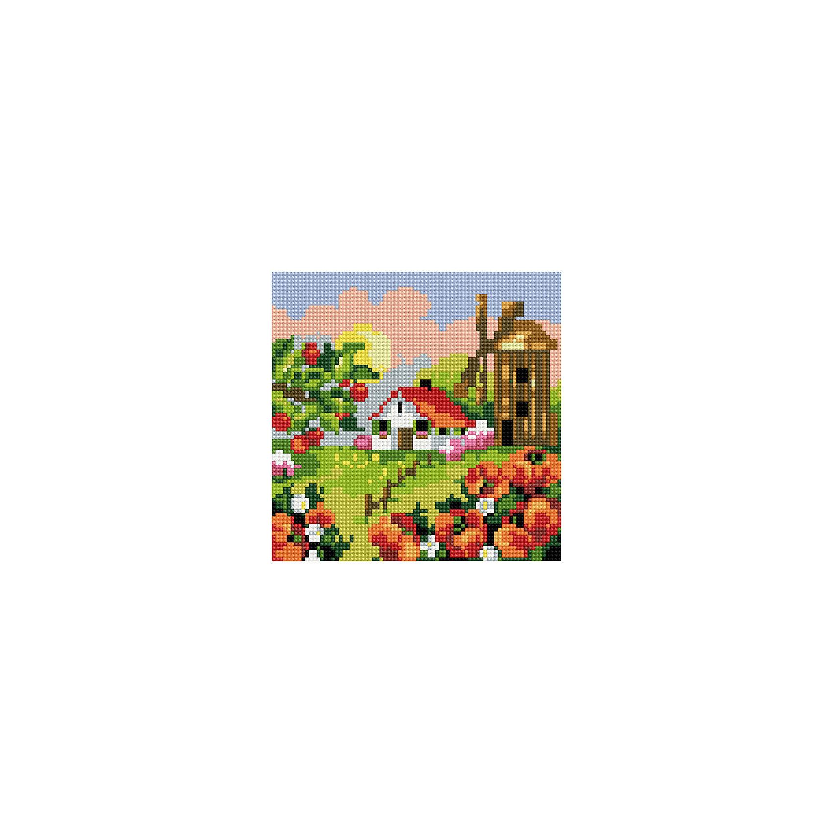 TUKZAR Алмазная мозаика по номерам Домик 20*20 см, на подрамнике наборы для рисования цветной картины по номерам волшебный домик