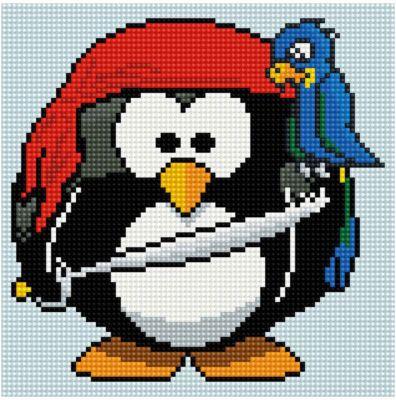 Tukzar Алмазная Мозаика По Номерам Пингвин 20*20 См, На Подрамнике