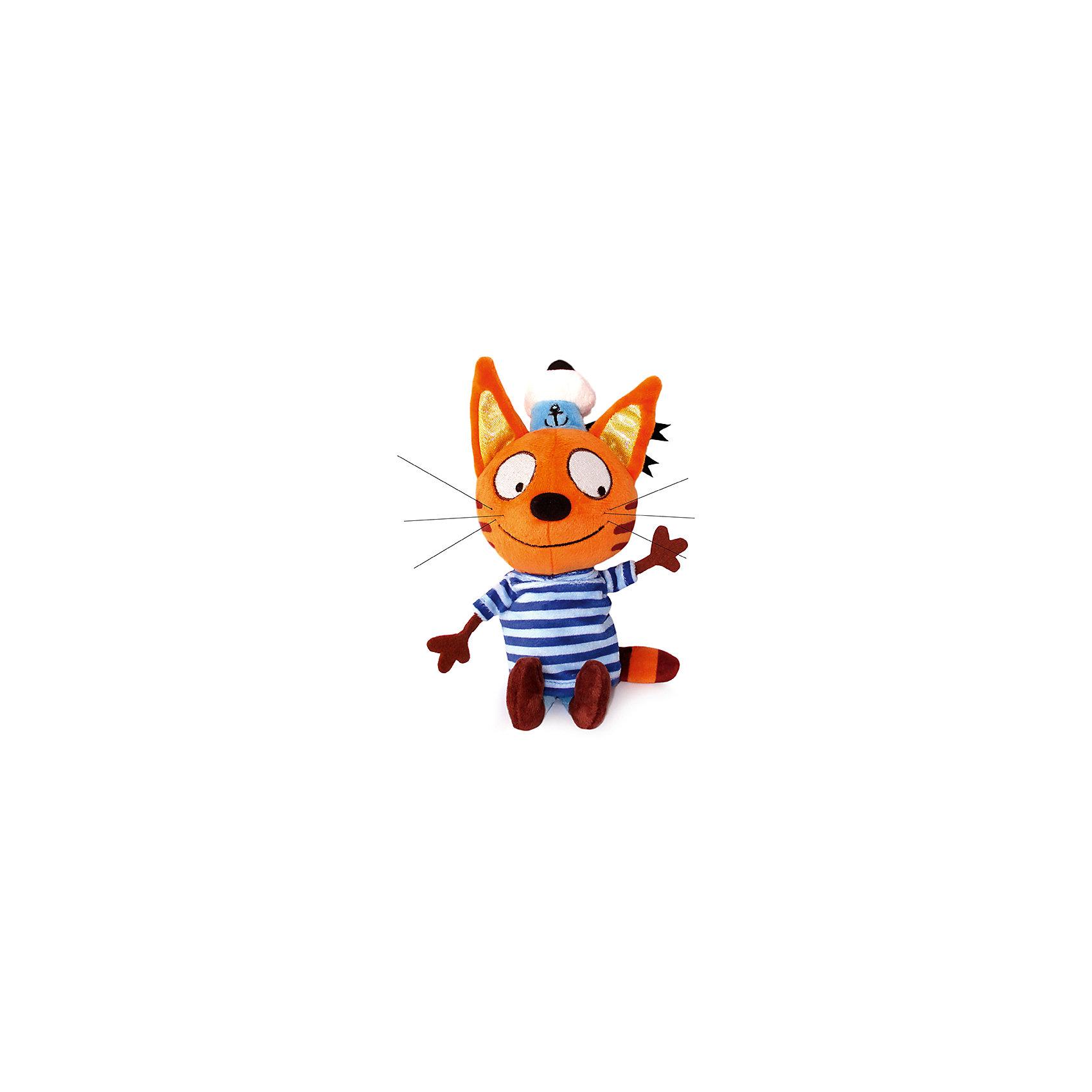 МУЛЬТИ-ПУЛЬТИ Мягкая игрушка Коржик, 3 Кота, Мульти-Пульти, 14 см мульти пульти мягкая игрушка серый мышонок 23 см со звуком кот леопольд мульти пульти