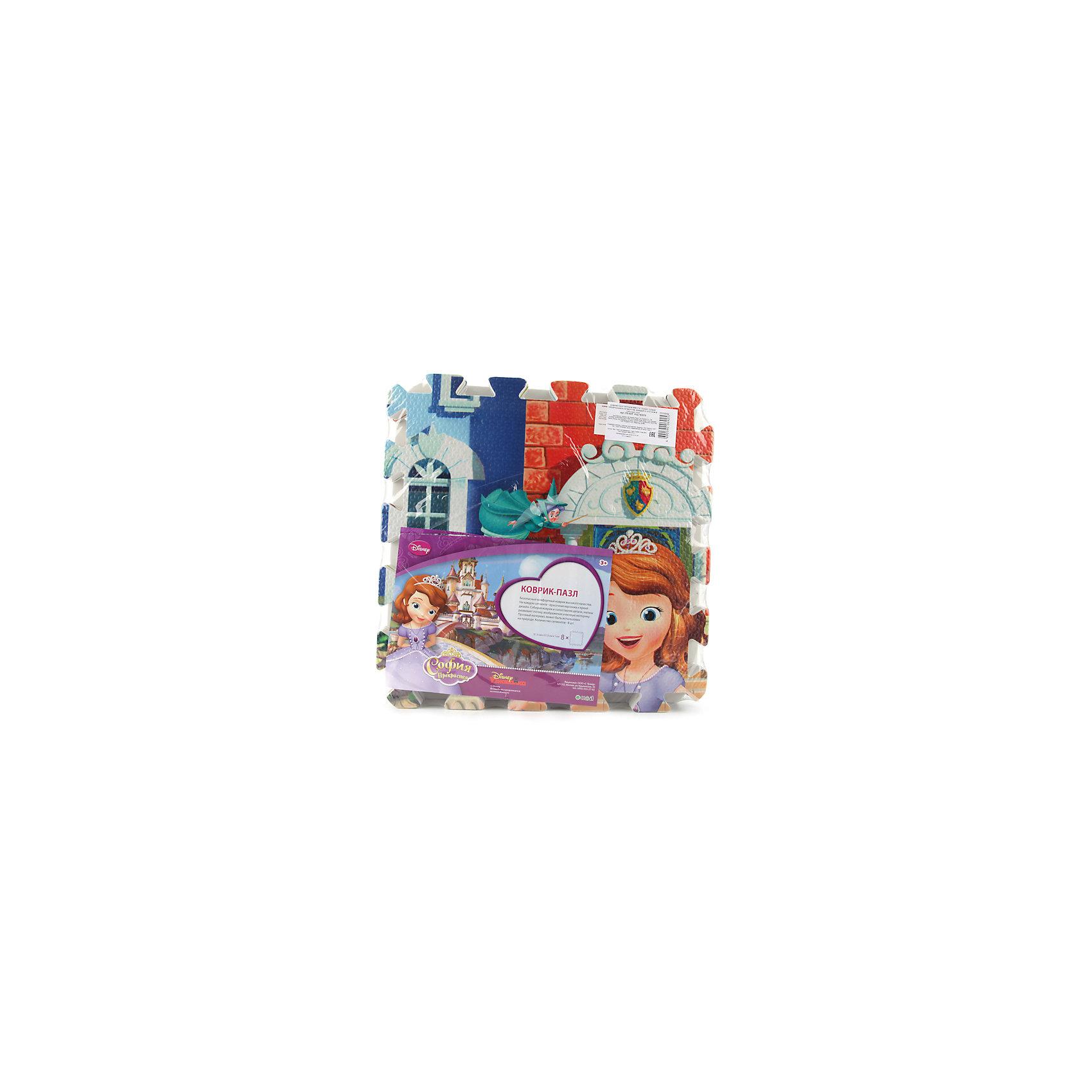 Коврик-пазл София прекрасная 8 сегментов, УмкаРазвивающие коврики<br>Игрушки могут не только развлекать малыша, но и помогать его всестороннему развитию. Этот коврик предназначен для формирования разных навыков, он помогает развить тактильное восприятие, цветовосприятие, научиться ориентироваться в пространстве, а также соотносить детали.<br>Изделие представляет собой коврик, состоящий из восьми деталей с изображением Софии Прекрасной и её друзей - любимых детских пресонажей. Сделан коврик из качественных материалов, безопасных для ребенка.<br><br>Дополнительная информация:<br><br>цвет: разноцветный;<br>материал: ПВХ;<br>количество сегментов: 8;<br>размер одного сегмента: 315 х 315 мм.<br><br>Коврик-пазл София прекрасная 8 сегментов от бренда Умка можно купить в нашем магазине.<br><br>Ширина мм: 80<br>Глубина мм: 320<br>Высота мм: 320<br>Вес г: 580<br>Возраст от месяцев: 36<br>Возраст до месяцев: 2147483647<br>Пол: Женский<br>Возраст: Детский<br>SKU: 5002211