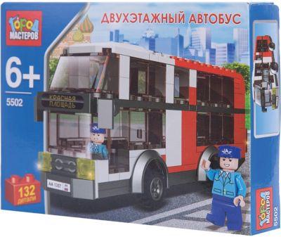 Город мастеров Конструктор Двухэтажный автобус , 132 детали, Город Мастеров