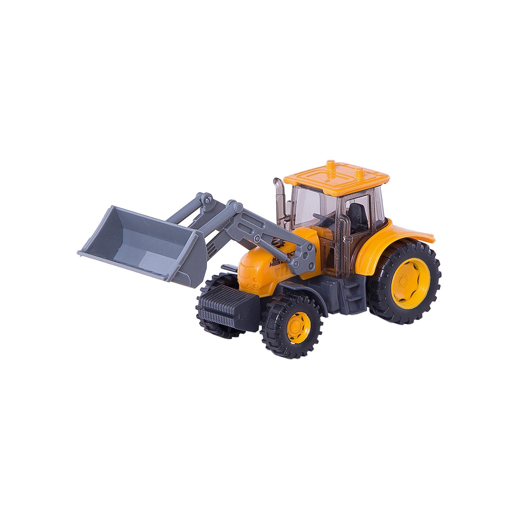 Экскаватор-трактор, ТехнопаркПорадовать мальчика просто - подарите ему такую качественную игрушку. Игрушки могут не только развлекать малыша, но и помогать его всестороннему развитию. Эта машинка поможет формированию разных навыков, он помогает развить тактильное восприятие, цветовосприятие, воображение и мелкую моторику.<br>Изделие представляет собой игрушку с отличной детализацией из прочного материала. Изделие произведено из качественных материалов, безопасных для ребенка.<br><br>Дополнительная информация:<br><br>цвет: разноцветный;<br>материал: металл, пластик;<br>размер упаковки: 70 x 150 x 170 мм.<br><br>Экскаватор-трактор от бренда Технопарк можно купить в нашем магазине.<br><br>Ширина мм: 70<br>Глубина мм: 150<br>Высота мм: 170<br>Вес г: 140<br>Возраст от месяцев: 36<br>Возраст до месяцев: 2147483647<br>Пол: Мужской<br>Возраст: Детский<br>SKU: 5002227