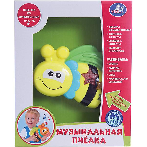 Музыкальная игрушка Пчелка, УмкаДругие музыкальные инструменты<br>Игрушки могут не только развлекать малыша, но и помогать его всестороннему развитию. Эта пчелка поможет формированию разных навыков, он помогает развить тактильное восприятие, цветовосприятие, воображение и мелкую моторику.<br>Изделие представляет собой игрушку, которая дополнена звуковыми эффектами. Изделие произведено из качественных материалов, безопасных для ребенка.<br><br>Дополнительная информация:<br><br>цвет: разноцветный;<br>материал: пластик;<br>со звуковыми эффектами;<br>размер упаковки: 50 x 210 x 170 мм.<br><br>Музыкальную игрушку Пчелка от бренда Умка можно купить в нашем магазине.<br><br>Ширина мм: 50<br>Глубина мм: 210<br>Высота мм: 170<br>Вес г: 250<br>Возраст от месяцев: 36<br>Возраст до месяцев: 2147483647<br>Пол: Унисекс<br>Возраст: Детский<br>SKU: 5002236