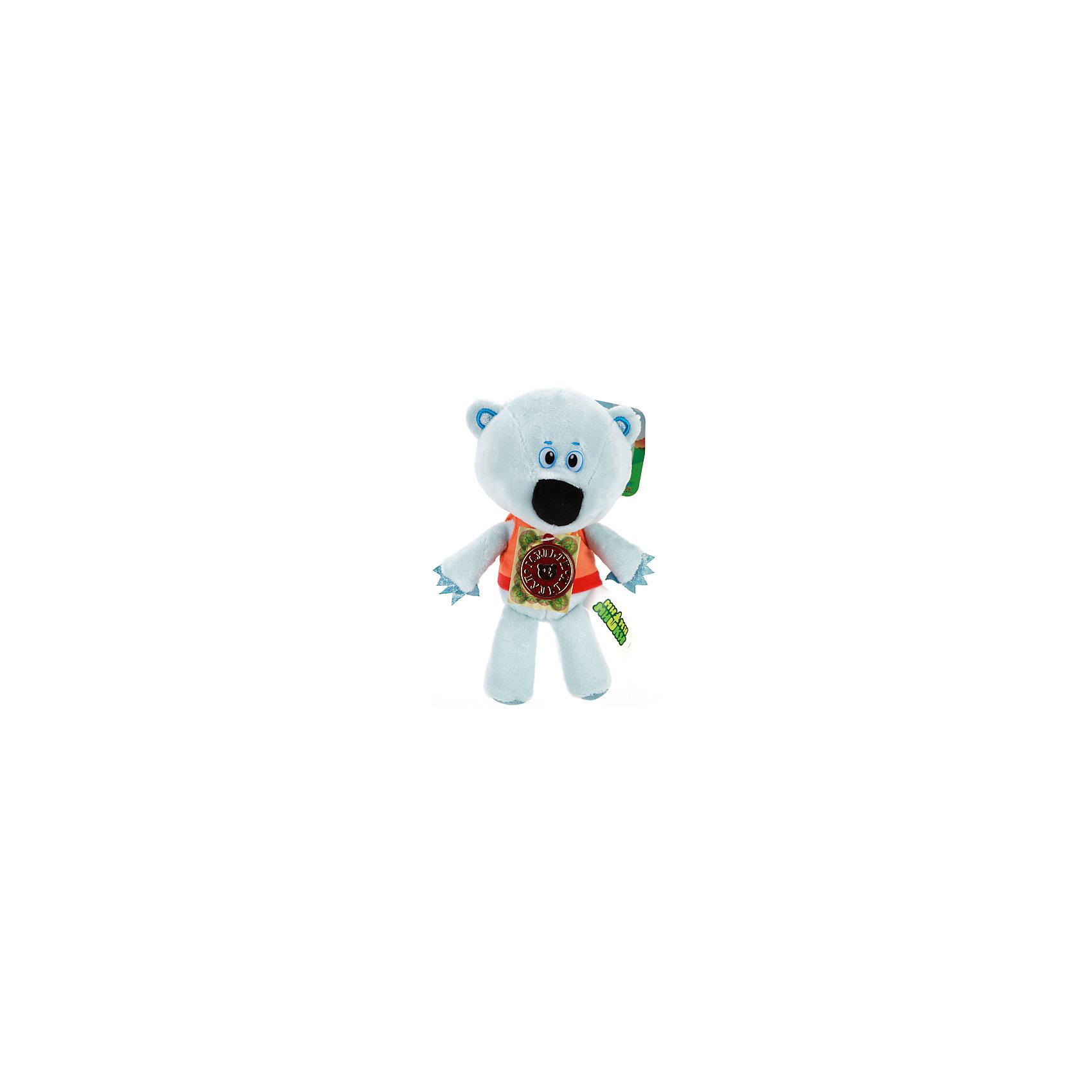 МУЛЬТИ-ПУЛЬТИ Мягкая игрушка Медвежонок белая тучка, 20 см, Мульти-Пульти мульти пульти мягкая игрушка принцесса луна 18 см со звуком my little pony мульти пульти