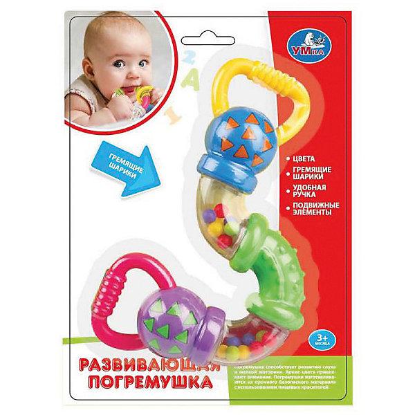 Погремушка вращающаяся, УмкаИгрушки для новорожденных<br>Игрушки могут не только развлекать малыша, но и помогать его всестороннему развитию. Эта игрушка поможет формированию разных навыков, он помогает развить тактильное восприятие, цветовосприятие, воображение и мелкую моторику.<br>Изделие представляет собой игрушку, которую можно вращать и греметь ею. С её помощью ребенок сможет надолго занять себя! Изделие произведено из качественных материалов, безопасных для ребенка.<br><br>Дополнительная информация:<br><br>цвет: разноцветный;<br>материал: пластик;<br>размер упаковки: 50 x 210 x 150 мм.<br><br>Погремушку вращающуюся от бренда Умка можно купить в нашем магазине.<br><br>Ширина мм: 50<br>Глубина мм: 210<br>Высота мм: 150<br>Вес г: 130<br>Возраст от месяцев: 36<br>Возраст до месяцев: 2147483647<br>Пол: Унисекс<br>Возраст: Детский<br>SKU: 5002255