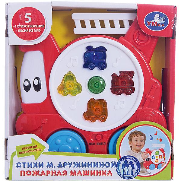 Пожарная машинка, стихи М. Дружининой, УмкаМашинки<br>Игрушки могут не только развлекать малыша, но и помогать его всестороннему развитию. Эта игрушка поможет формированию разных навыков, он помогает развить тактильное восприятие, цветовосприятие, звуковосприятие и мелкую моторику.<br>Изделие представляет собой игрушку из приятного на ощупь материала со звуковым и световым модулем - ребенок может надолго занять себя игрой с ней! машина может рассказать стих или спеть песню. Сделана игрушка из качественных материалов, безопасных для ребенка.<br><br>Дополнительная информация:<br><br>цвет: разноцветный;<br>материал: пластик;<br>звуковой и световой модуль;<br>размер упаковки: 50 x 180 x 170 мм.<br><br>Игрушку Пожарная машинка, стихи М. Дружининой, от бренда Умка можно купить в нашем магазине.<br><br>Ширина мм: 50<br>Глубина мм: 180<br>Высота мм: 170<br>Вес г: 270<br>Возраст от месяцев: 36<br>Возраст до месяцев: 2147483647<br>Пол: Мужской<br>Возраст: Детский<br>SKU: 5002259