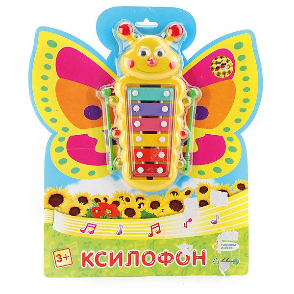 Ксилофон Бабочка, Играем вместеПринцессы Дисней<br>Развивать музыкальные способности у ребенка можно с самого раннего возраста. С таким инструментом его потенциал раскроется ярче и сильнее! Играть с ним приятнее еще и потому, что на изделии изображены любимые мультяшные герои!<br>Игрушка представляет собой музыкальный инструмент, похожий на настоящий. В комплекте к нему идут палочки. Сделан инструмент из качественных материалов, безопасных для ребенка.<br><br>Дополнительная информация:<br><br>цвет: разноцветный;<br>материал: пластик, металл;<br>в комплекте - палочки;<br>размер упаковки: 20 x 280 x 250 мм.<br><br>Ксилофон Бабочка от бренда Играем вместе можно купить в нашем магазине.<br><br>Ширина мм: 20<br>Глубина мм: 280<br>Высота мм: 250<br>Вес г: 150<br>Возраст от месяцев: 36<br>Возраст до месяцев: 2147483647<br>Пол: Унисекс<br>Возраст: Детский<br>SKU: 5002276