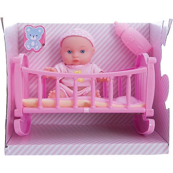 Пупс, 16 см, КарапузБренды кукол<br>Пупс Мой малыш от российского бренда Карапузики очень похож на настоящего малыша. Он одет в милую пижаму и чепчик. К пупсу прилагаются кроватка и бутылочка. Пупс Мой малыш отлично подойдет для детей, любящих ухаживать за малышами. Девочка заботливо уложит его на подушку, накроет его одеялом и покормит из бутылочки, когда пупсик проснется.<br><br>Дополнительная информация:<br>В комплекте: пупс, кроватка, одеяло, подушка, бутылочка<br>Материал: пластик, текстиль<br>Высота пупса: 16 см<br>Размер упаковки: 24х20х15 см<br>Вес: 470 грамм<br><br>Купить пупса Мой малыш можно в нашем интернет-магазине.<br>Ширина мм: 150; Глубина мм: 200; Высота мм: 240; Вес г: 470; Возраст от месяцев: 36; Возраст до месяцев: 2147483647; Пол: Женский; Возраст: Детский; SKU: 5002280;