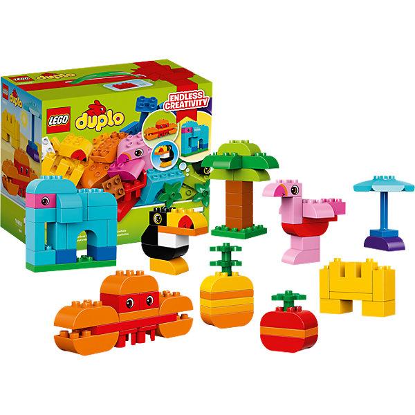 LEGO DUPLO 10853: Набор деталей для творческого конструированияПластмассовые конструкторы<br>LEGO DUPLO 10853: Набор деталей для творческого конструирования<br><br>Характеристики:<br><br>- в набор входит: детали, инструкция<br>- состав: пластик<br>- количество деталей: 75<br>- размер коробки: 26 * 14 * 22 см.<br>- для детей в возрасте: от 1,5 до 5 лет<br>- Страна производитель: Дания/Китай/Чехия/<br><br>Легендарный конструктор LEGO (ЛЕГО) представляет серию «DUPLO» (Д?пло) для самых маленьких. Крупные детали безопасны для малышей, а интересная тематика, возможность фантазировать, собирать из конструктора свои фигуры и играть в него приведут кроху в восторг! Этот шикарный набор зовет ребенка в джунгли к экзотическим животным и пальмам. С помощью набора можно сконструировать даже слона! А еще тукана, фламинго, краба и не только. В набор входят детали для раскладного зонта от солнца. Яркие и отлично детализированные части выполнены из очень качественного пластика. Детали набора подходят ко всем другим наборам серии DUPLO. Играя с этим конструктором ребенок сможет развить внимание, память, моторику ручек, а также творческие способности. <br><br>Конструктор  LEGO DUPLO 10853: Набор деталей для творческого конструирования можно купить в нашем интернет-магазине.<br>Ширина мм: 227; Глубина мм: 266; Высота мм: 147; Вес г: 894; Возраст от месяцев: 12; Возраст до месяцев: 60; Пол: Унисекс; Возраст: Детский; SKU: 5002409;