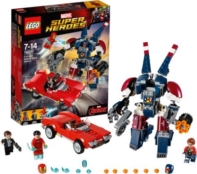 LEGO Super Heroes 76077: Железный человек: Стальной Детройт наносит удар