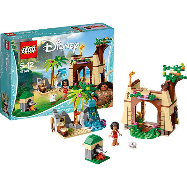 LEGO Disney Princesses 41149: Приключения Моаны на затерянном островеКонструкторы Лего<br>LEGO Disney Princesses 41149: Приключения Моаны на затерянном острове<br><br>Характеристики:<br><br>- в набор входит: детали дома и пещеры с водопадом, фигурка Моаны, свинка Пуа, аксессуары, красочная инструкция<br>- состав: пластик<br>- количество деталей: 205<br>- размер упаковки: 26 * 6 * 19 см.<br>- размер дома: 24 * 8 * 14 см.<br>- размер пещеры с водопадом: 11 * 5 * 9 см.<br>- для детей в возрасте: от 5 до 12 лет<br>- Страна производитель: Дания/Китай/Чехия<br><br>Легендарный конструктор LEGO (ЛЕГО) представляет серию «Disney Princesses» (Принцессы Диснея) в которую входят наборы конструкторов о принцессах, героях и героинях из мультфильмов компании Дисней.<br><br> Моана живет на одном из Гавайских остовов и изучает историю своих предков, играет на барабанах и ловит рыбу. Ее двухэтажный дом выглядит совсем как настоящий, красивое дерево усыпано цветами, по деталькам в виде камней ползают ящерицы, а внутренний интерьер радует своим свободным стилем. Столик в стиле этно отлично подходит домику. Моана кушает фрукты и отдыхает со своей любимой свинкой Пуа. Рядом с домом расположена пещера с водопадом, где под раскидистой пальмой Моана практикует игру на барабанах. За водой спрятано сокровище – сердце острова, открой его отодвинув детали. По ночам Моана зажигает факелы и продолжает свое обучение. Она ориентируется на острове при помощи карты. <br><br>В набор входят детали для костра и небольшой вертель для жарки рыб. Фигурка Моаны выглядит реалистично, ее вьющиеся волосы выполнены с учетом рельефа, а сбоку можно вставлять в них украшение-цветок. Фигурка может двигать головой и сидеть. Помоги Моане следовать своей судьбе и найти сердце острова. <br><br>Играя с конструктором ребенок развивает моторику рук, воображение и логическое мышление, научится собирать по инструкции и создавать свои модели. Придумывайте новые истории любимых героев с набором LEGO «Disney Princesses»!<br><b
