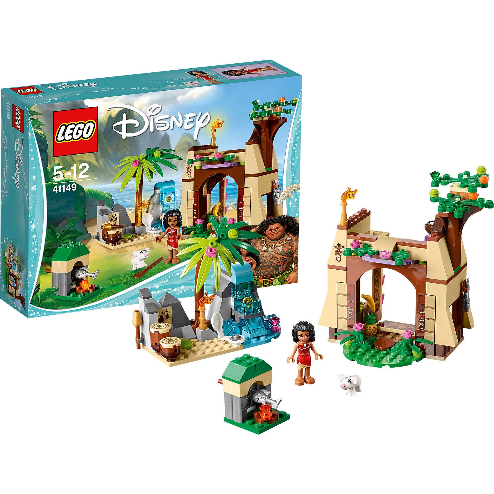 LEGO Disney Princesses 41149: Приключения Моаны на затерянном острове<br><br>Ширина мм: 255<br>Глубина мм: 192<br>Высота мм: 66<br>Вес г: 345<br>Возраст от месяцев: 60<br>Возраст до месяцев: 144<br>Пол: Женский<br>Возраст: Детский<br>SKU: 5002466