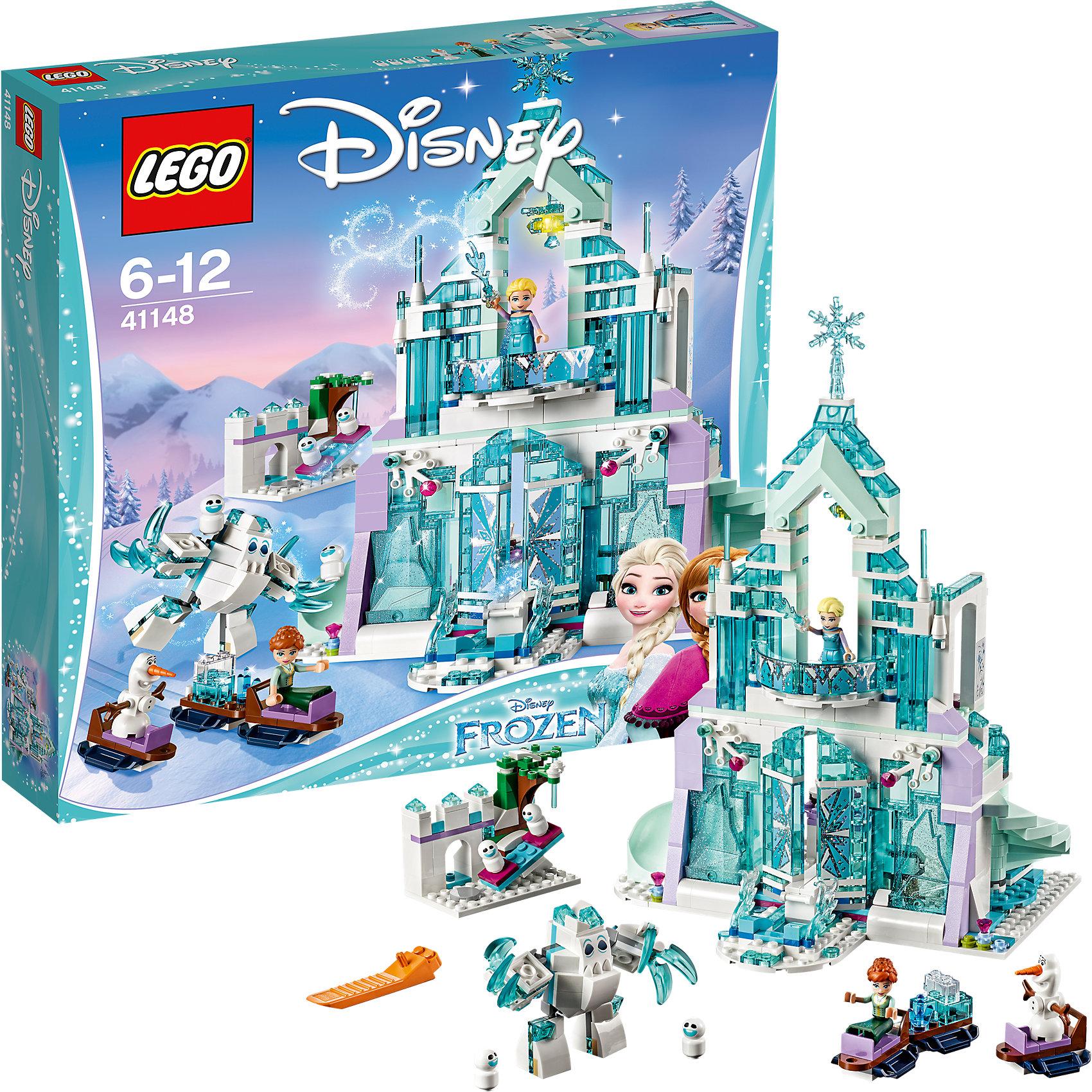 LEGO Disney Princesses 41148: Волшебный ледяной замок Эльзы<br><br>Ширина мм: 377<br>Глубина мм: 347<br>Высота мм: 76<br>Вес г: 1246<br>Возраст от месяцев: 72<br>Возраст до месяцев: 144<br>Пол: Женский<br>Возраст: Детский<br>SKU: 5002467
