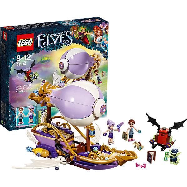 LEGO Elves 41184: Погоня за амулетомПластмассовые конструкторы<br>LEGO Elves 41314: Погоня за амулетом<br><br>Характеристики:<br><br>- в набор входит: детали летательного корабля, летательного аппарата, 3 фигурки, аксессуары, инструкция по сборке<br>- фигурки набора: Эмили Джонс, эльф Эйра, гоблин Дюклин<br>- состав: пластик<br>- количество деталей: 343<br>- для детей в возрасте: от 8 до 12 лет<br>- Страна производитель: Дания/Китай/Чехия<br><br>Легендарный конструктор LEGO (ЛЕГО) представляет серию «Elves» (Эльфы) – магическую вселенную, наполненную приключениями! <br><br>Дети должны помочь эльфам найти четыре волшебных ключа, чтобы вернуть Эмили Джонс домой. Легендарный летающий корабль Эйры впечатляет своим отличным воплощением в этой серии. Насыщенные лиловые и фиолетовые оттенки прекрасно сочетаются с золотыми деталями декораций. Корабль трансформируется в режим быстрого полета, после того, как гоблин похищает амулет у Эмили. Эйра использует магию ветра и они пускаются в погоню. <br><br>Фигурки качественно прорисованы, могут поворачивать головой, руками, торсом и принимать сидячее положение. Красивые рельефные волосы собраны в прически, детали одежды оснащены выступающими складками по краям ткани и добавляют фигуркам реалистичности. Небольшой гоблин может двигать руками, поворачивать головой, держать предметы в руках, его причёска тоже детализирована. Летательный аппарат гоблина имеет багажное отделение хранения награбленного. Помоги девочкам вернуть амулет, и прими участие в эпичной погоне за амулетом! Детали набора отлично сочетаются в другими наборами серии LEGO Elves. <br><br>Играя с конструктором ребенок развивает моторику рук, воображение и логическое мышление, научится собирать по инструкции и создавать свои модели. Придумывайте новые истории любимых героев с набором LEGO «Elves»!<br><br>Конструктор LEGO Elves 41314: Погоня за амулетом можно купить в нашем интернет-магазине.<br>Ширина мм: 281; Глубина мм: 261; Высота мм: 63; Вес г: 504; Возраст от месяце