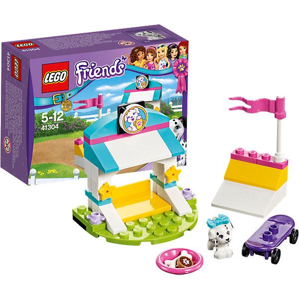 LEGO Friends 41304: Выставка щенков: Скейт-паркПластмассовые конструкторы<br>LEGO Friends 41304: Выставка щенков: Скейт-парк<br><br>Характеристики:<br><br>- в набор входит: детали парка, щенок Куки, аксессуары, красочная инструкция<br>- состав: пластик<br>- количество деталей: 45<br>- размер главной постройки: 6 * 4 * 5 см.<br>- для детей в возрасте: от 5 до 12 лет<br>- Страна производитель: Дания/Китай/Чехия<br><br>Легендарный конструктор LEGO (ЛЕГО) представляет серию «Friends» (Друзья) в которую входят наборы конструкторов интересных не только в строительстве, но и в игре. <br><br>Серия разработана с учетом различных повседневных ситуаций и мест. Готовь чемпионов в скейт-парке, тренируя их особые таланты к выставке щенков. В набор включен щенок далматинца Куки и его фиолетовый скейтборд. На двухуровневой рампе молодой скейтер уже умеет делать сложные трюки, ведь он тренируется в своем парке каждый день. Его красивый домик украшен звездами, ведь он хочет стать звездой и настоящим чемпионом. На верху домика расположен его портрет с призом прошлого года. Куки любит кушать печенье для собак, поэтому в его миске всегда лежит одно лакомство и косточка. Фигурка щенка надежно вставляется в детали лего, чтобы она не упала, а благодаря специальному отверстию, красивый бантик легко одевается и снимается. <br><br>Играя с конструктором ребенок развивает моторику рук, воображение и логическое мышление, научится собирать по инструкции и создавать свои модели. Придумывайте новые истории любимых героев с набором LEGO «Friends»!<br><br>Конструктор LEGO Friends 41304: Выставка щенков: Скейт-парк можно купить в нашем интернет-магазине.<br>Ширина мм: 124; Глубина мм: 93; Высота мм: 50; Вес г: 71; Возраст от месяцев: 60; Возраст до месяцев: 144; Пол: Женский; Возраст: Детский; SKU: 5002489;