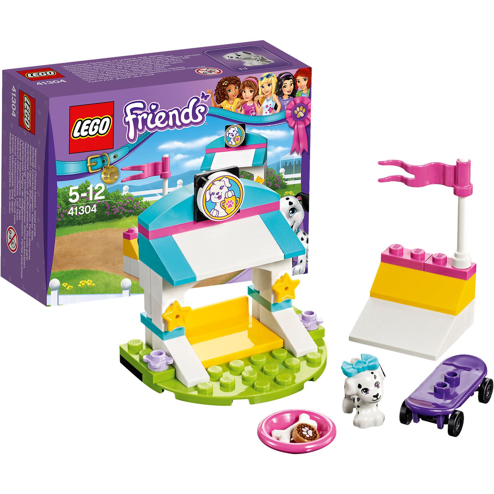 LEGO Friends 41304: Выставка щенков: Скейт-паркLEGO Friends 41304: Выставка щенков: Скейт-парк<br><br>Характеристики:<br><br>- в набор входит: детали парка, щенок Куки, аксессуары, красочная инструкция<br>- состав: пластик<br>- количество деталей: 45<br>- размер главной постройки: 6 * 4 * 5 см.<br>- для детей в возрасте: от 5 до 12 лет<br>- Страна производитель: Дания/Китай/Чехия<br><br>Легендарный конструктор LEGO (ЛЕГО) представляет серию «Friends» (Друзья) в которую входят наборы конструкторов интересных не только в строительстве, но и в игре. <br><br>Серия разработана с учетом различных повседневных ситуаций и мест. Готовь чемпионов в скейт-парке, тренируя их особые таланты к выставке щенков. В набор включен щенок далматинца Куки и его фиолетовый скейтборд. На двухуровневой рампе молодой скейтер уже умеет делать сложные трюки, ведь он тренируется в своем парке каждый день. Его красивый домик украшен звездами, ведь он хочет стать звездой и настоящим чемпионом. На верху домика расположен его портрет с призом прошлого года. Куки любит кушать печенье для собак, поэтому в его миске всегда лежит одно лакомство и косточка. Фигурка щенка надежно вставляется в детали лего, чтобы она не упала, а благодаря специальному отверстию, красивый бантик легко одевается и снимается. <br><br>Играя с конструктором ребенок развивает моторику рук, воображение и логическое мышление, научится собирать по инструкции и создавать свои модели. Придумывайте новые истории любимых героев с набором LEGO «Friends»!<br><br>Конструктор LEGO Friends 41304: Выставка щенков: Скейт-парк можно купить в нашем интернет-магазине.<br><br>Ширина мм: 124<br>Глубина мм: 93<br>Высота мм: 50<br>Вес г: 71<br>Возраст от месяцев: 60<br>Возраст до месяцев: 144<br>Пол: Женский<br>Возраст: Детский<br>SKU: 5002489