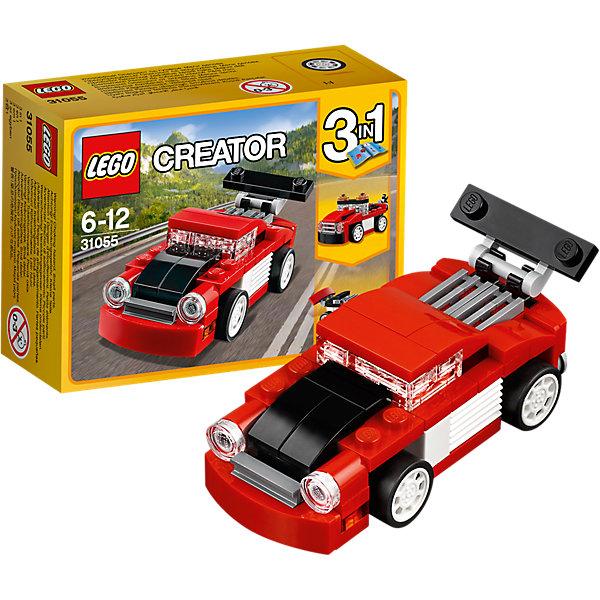 LEGO Creator 31055: Красная гоночная машинаКонструкторы Лего<br>LEGO Creator 31055: Красная гоночная машина<br><br>Характеристики:<br><br>- в набор входит: детали для машины, красочная инструкция<br>- состав: пластик<br>- количество деталей: 71<br>- размер гоночной машины: 8 * 3 * 3 см.<br>- размер эвакуатора: 8 * 3 * 3 см.<br>- размер болида: 7 * 3 * 3 см.<br>- для детей в возрасте: от 6 до 12 лет<br>- Страна производитель: Дания/Китай/Чехия<br><br>Легендарный конструктор LEGO (ЛЕГО) представляет серию «Creator» (Криэйтор), которая позволяет детям экспериментировать с домами, машинами, самолетами и существами. Каждый набор этой серии подразумевает перестройку тремя разными способами убирая ограничения веселья! Набор Красная гоночная машина понравится юным любителям автомобилей и гонок. Машина классических гоночных красных, черных и белых цветов может быть перестроена в эвакуатор или гоночный болид Формулы 1. Все детали отлично проработаны и прекрасно сочетаются. При наличии нескольких таких наборов можно прицеплять и вывозить эвакуатором гоночную машину, а если у ребенка уже есть другие детали ЛЕГО, то можно с их помощью достроить свои детали. Играя с конструктором ребенок развивает моторику рук, воображение и логическое мышление, научится собирать по инструкции и создавать свои модели. Придумывайте новые игры с набором LEGO «Creator»!<br><br>Конструктор LEGO Creator 31055: Красная гоночная машина можно купить в нашем интернет-магазине.<br><br>Ширина мм: 123<br>Глубина мм: 93<br>Высота мм: 50<br>Вес г: 75<br>Возраст от месяцев: 72<br>Возраст до месяцев: 144<br>Пол: Мужской<br>Возраст: Детский<br>SKU: 5002497
