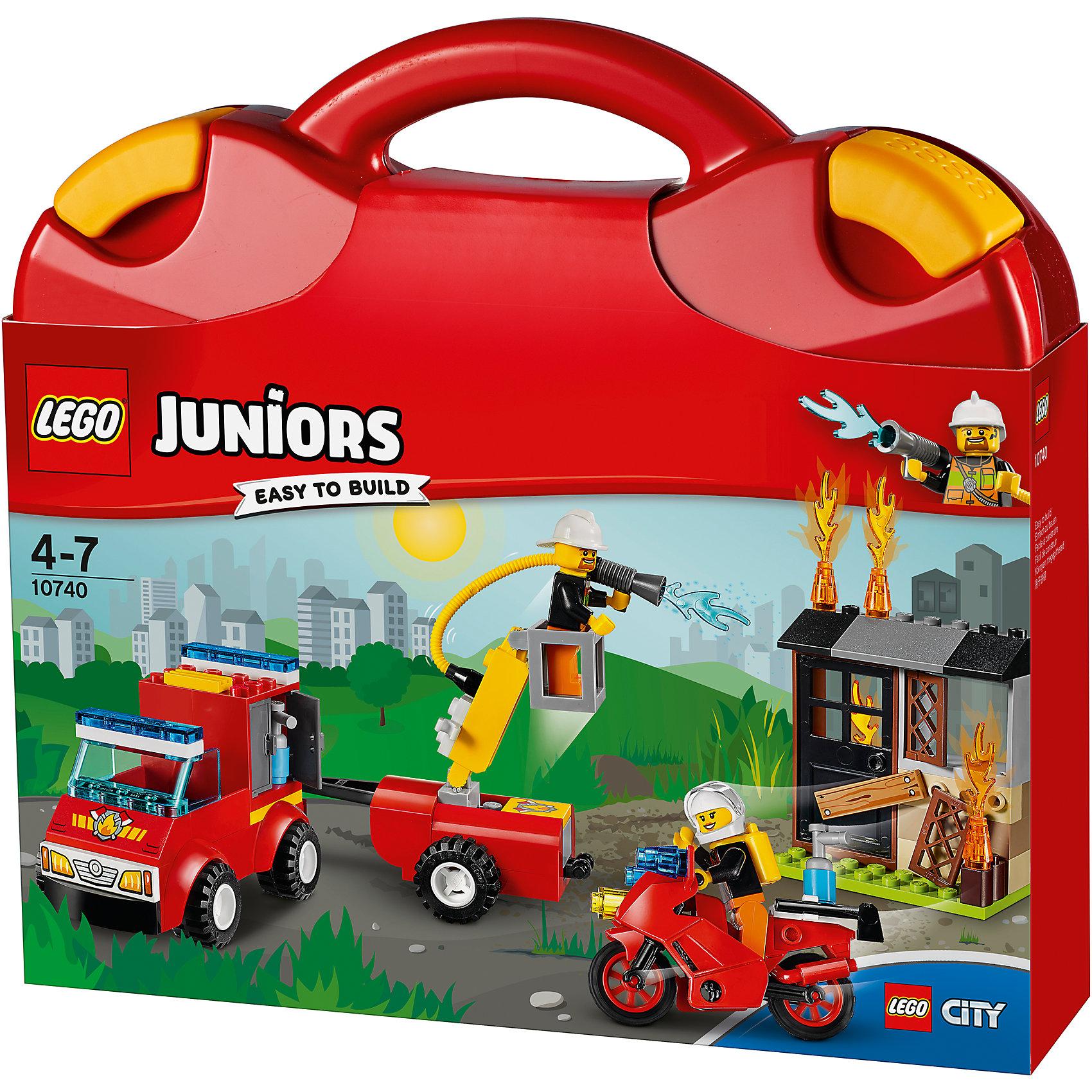 LEGO Juniors 10740: Чемоданчик «Пожарная команда» от myToys