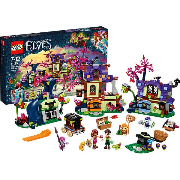 LEGO Elves 41185: Побег из деревни гоблиновКонструкторы Лего<br>LEGO Elves 41185: Побег из деревни гоблинов<br><br>Характеристики:<br><br>- в набор входит: детали трех домов, повозки, катапульты, 5 фигурок героев, фигурки животных, аксессуары, инструкция по сборке<br>- фигурки набора: эльфы Фарран и Азари, гоблины Фибблин, Байблин и Смайлин<br>- состав: пластик<br>- количество деталей: 343<br>- для детей в возрасте: от 8 до 12 лет<br>- Страна производитель: Дания/Китай/Чехия<br><br>Легендарный конструктор LEGO (ЛЕГО) представляет серию «Elves» (Эльфы) – магическую вселенную, наполненную приключениями!<br><br>Дети должны помочь эльфам найти четыре волшебных ключа, чтобы вернуть Эмили Джонс домой. Два отважных эльфа прокрались в деревню гоблинов чтобы найти Эмили, спасти животных и вернуть украденные драгоценные камни. Большая деревня состоит из разных домов, некоторые оснащены опасными плотоядными растениями, подзорными трубами для слежения, горкой для быстрого спуска, а также передвижной катапультой. Опасные гоблины помещают животных в клетки, а из растений готовят ядовитые шипы. <br><br>Фигурки эльфов качественно прорисованы, могут поворачивать головой, руками, торсом и принимать сидячее положение. Красивые рельефные волосы распущены, детали одежды оснащены выступающими складками по краям ткани и добавляют фигуркам реалистичности. Фигурки гоблинов могут двигать руками, поворачивать головой, держать предметы в руках, их причёски тоже детализированы. Огромное количество аксессуаров сделают игру с набором еще более увлекательной! Детали набора отлично сочетаются в другими наборами серии LEGO Elves. <br><br>Играя с конструктором ребенок развивает моторику рук, воображение и логическое мышление, научится собирать по инструкции и создавать свои модели. Придумывайте новые истории любимых героев с набором LEGO «Elves»!<br><br>Конструктор LEGO Elves 41185: Побег из деревни гоблинов можно купить в нашем интернет-магазине.<br>Ширина мм: 478; Глубина мм: 281; Высота мм: 66; Ве