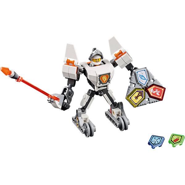 LEGO NEXO KNIGHTS 70366: Боевые доспехи ЛансаПластмассовые конструкторы<br>LEGO NEXO KNIGHTS 70366: Боевые доспехи Ланса<br><br>Характеристики:<br><br>- в набор входит: доспехи, фигурка, 5 защитных сил, красочная инструкция<br>- состав: пластик<br>- количество деталей: 83<br>- размер коробки: 20 * 5,5 * 19 см.<br>- высота доспеха: 9 см.<br>- для детей в возрасте: от 7 до 14 лет<br>- Страна производитель: Дания/Китай/Чехия<br><br>Легендарный конструктор LEGO (ЛЕГО) представляет серию «NEXO KNIGHTS» (Нэксо Найтс) по сюжету одноименного мультсериала. Серия понравится любителям средневековья благодаря рыцарям, принцессам, монстрам и ужасным злодеям. Рыцарь Ланс получает свои новые боевые доспехи. Прекрасное сочетание темно-серого, белого и оранжевого цветов отлично ему подходят. Доспех на шарнирах и позволяет рыцарю свободно двигать руками и ногами в плечах, локтях, коленях, бедрах и торсе. Прочный щит содержит сразу три силы, а надежное и яркое копье станет отличным помощников в битве.Изображенный на груди герб Ланса является особенностью доспеха, так как ранее он не изображался. Фигурка Ланса входит в комплект и отлично детализирована. Съемный шлем выглядит очень правдоподобно. К доспеху можно прикрепить детали от турнирной машины Ланса от LEGO NEXO KNIGHTS. Помогай рыцарям бороться с каменными монстрами с помощью прогресса и невероятной Нексо силы!<br><br>Конструктор LEGO NEXO KNIGHTS 70366: Боевые доспехи Ланса можно купить в нашем интернет-магазине.<br>Ширина мм: 209; Глубина мм: 185; Высота мм: 50; Вес г: 121; Возраст от месяцев: 84; Возраст до месяцев: 168; Пол: Мужской; Возраст: Детский; SKU: 5002548;