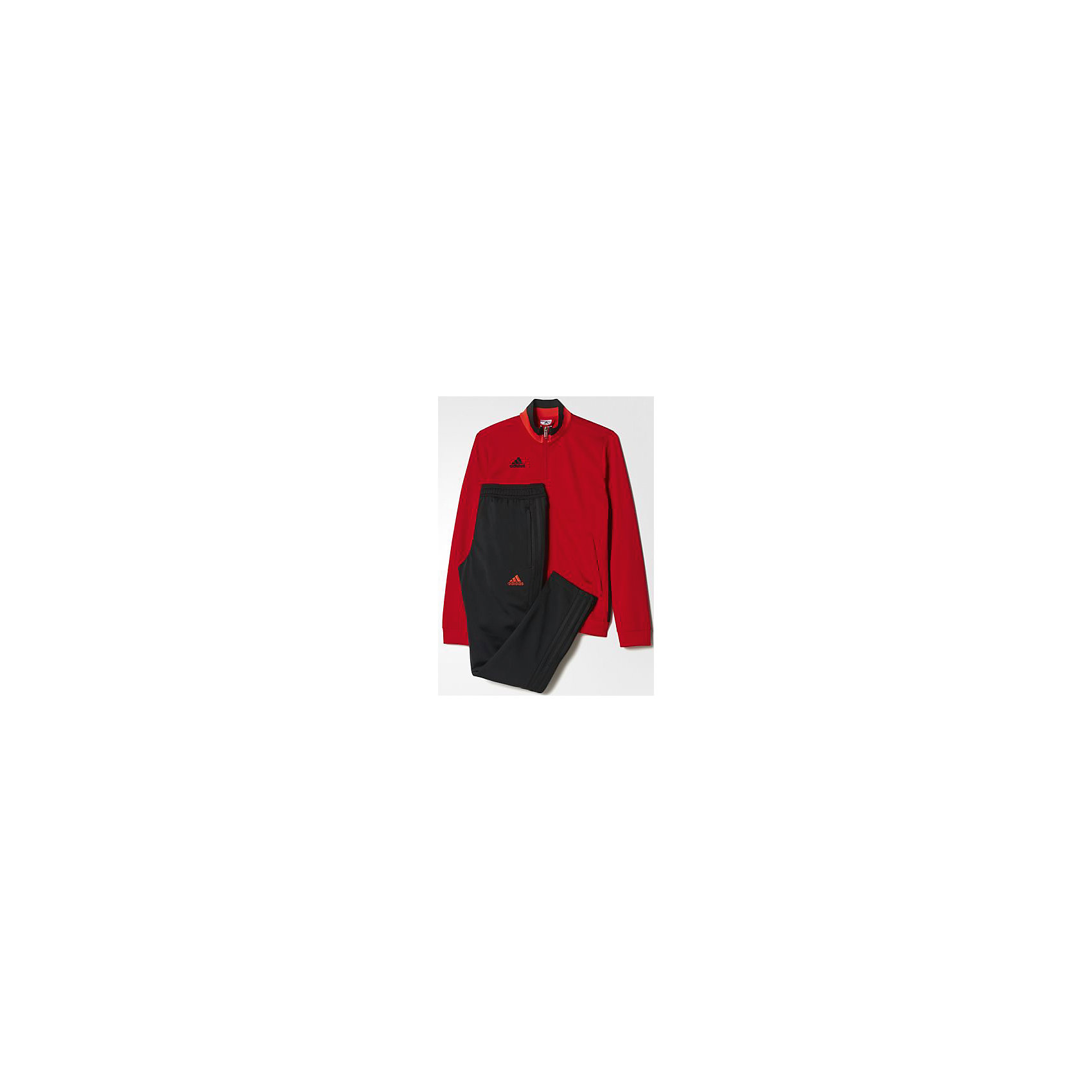 Спортивный костюм Performance adidasКостюм спортивный Аdidas (Адидас).<br><br>Характеристики:<br><br>• Цвет: красный, черный.<br>• Состав: 100% полиэстер.<br>• Материал: трикотаж.<br>• Олимпийка: передние прорезные карманы; застежка на молнию; воротник-стойка; рукава реглан; рифленые манжеты<br>• Брюки: боковые карманы; рифленый пояс на регулируемых завязках-шнурках; рифленые манжеты<br>• Зауженный крой брюк.<br><br>Комфортный костюм для юных спортсменов. Модель выполнена из гладкого трикотажа. Костюм состоит из толстовки  и брюк. Толстовка красного цвета с застежкой на молнии, воротником-стойкой и передними карманами, рукавами реглан, рифлеными манжетами, декорирована черными лампасами.  Зауженные брюки с боковыми карманами на молниях. В таком спортивном костюме ваш ребенок будет чувствовать себя удобно и комфортно на занятиях спортом и в повседневной жизни.<br><br>Костюм спортивный  Adidas (Адидас), можно купить в нашем интернет – магазине.<br><br>Ширина мм: 247<br>Глубина мм: 16<br>Высота мм: 140<br>Вес г: 225<br>Цвет: черный<br>Возраст от месяцев: 84<br>Возраст до месяцев: 96<br>Пол: Мужской<br>Возраст: Детский<br>Размер: 128,164,140,152<br>SKU: 5003608