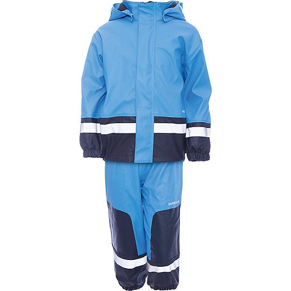 Комплект Boardman: куртка и брюки для мальчика DIDRIKSONSВерхняя одежда<br>Характеристики товара:<br><br>• цвет: голубой<br>• материал: 100% полиуретан, подкладка - 100% полиэстер<br>• утеплитель: 60 г/м<br>• температура: от 0° до +7 ° С<br>• непромокаемая ткань<br>• подкладка из флиса<br>• проклеенные швы<br>• регулируемый съемный капюшон<br>• регулируемый пояс брюк<br>• фронтальная молния под планкой<br>• светоотражающие детали<br>• зона коленей усилена дополнительным слоем ткани<br>• грязь легко удаляется с помощью влажной губки или ткани<br>• резинки для ботинок<br>• страна бренда: Швеция<br>• страна производства: Китай<br><br>Такой непромокаемый костюм понадобится в холодную и сырую погоду! Он не только стильный, но еще и очень комфортный. Костюм обеспечит ребенку удобство при прогулках и активном отдыхе в межсезонье или оттепель. Такая модель от шведского производителя легко чистится, она оснащена разными полезными деталями.<br>Материал костюма - непромокаемый, швы дополнительно проклеены. Очень стильная и удобная модель! Изделие качественно выполнено, сделано из безопасных для детей материалов. <br><br>Комплект: куртку и брюки для мальчика от бренда DIDRIKSONS можно купить в нашем интернет-магазине.<br><br>Ширина мм: 356<br>Глубина мм: 10<br>Высота мм: 245<br>Вес г: 519<br>Цвет: голубой<br>Возраст от месяцев: 36<br>Возраст до месяцев: 48<br>Пол: Мужской<br>Возраст: Детский<br>Размер: 100,130,120,110,80,90<br>SKU: 5003845