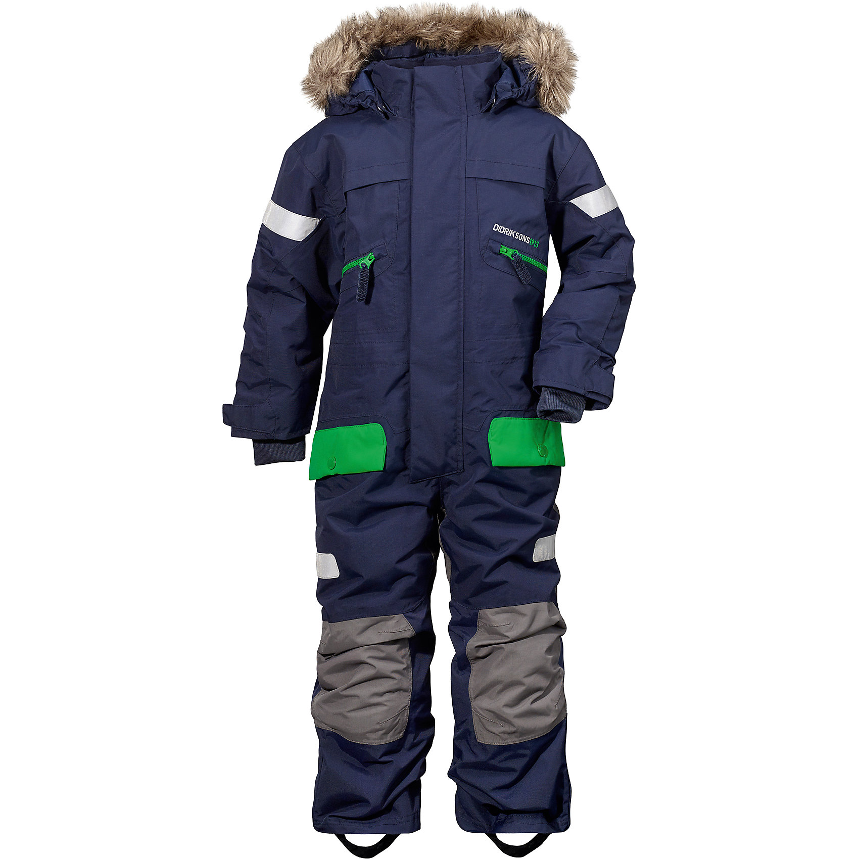 Комбинезон Theron DIDRIKSONSВерхняя одежда<br>Характеристики товара:<br><br>• цвет: синий<br>• материал: 100% полиамид, подкладка 100% полиэстер<br>• утеплитель: 180 г/м<br>• сезон: зима<br>• температурный режим от +5°до -25°С<br>• непромокаемая и непродуваемая мембранная ткань<br>• резинки для ботинок<br>• дополнительная пропитка верха<br>• прокленные швы<br>• регулируемый съемный капюшон<br>• талия, манжеты и ширина брючины регулируется<br>• внутренние гетры<br>• внутренние трикотажные манжеты<br>• фронтальная молния под планкой<br>• светоотражающие детали<br>• можно увеличить длину рукавов и штанин на один размер <br>• страна бренда: Швеция<br>• страна производства: Бангладеш<br><br>Такой комбинезон незаменим зимой! Это не только стильно, но еще и очень комфортно, а также тепло. Он обеспечит ребенку удобство при прогулках и активном отдыхе зимой. Комбинезон от шведского производителя легко трансформируется под рост ребенка и погодные условия.<br>Модель сшита из мембранной ткани, которая позволяет телу дышать, но при этом не промокает и не продувается. Очень стильная и удобная модель! Изделие качественно выполнено, сделано из безопасных для детей материалов. <br><br>Комбинезон от бренда DIDRIKSONS можно купить в нашем интернет-магазине.<br><br>Ширина мм: 356<br>Глубина мм: 10<br>Высота мм: 245<br>Вес г: 519<br>Цвет: синий<br>Возраст от месяцев: 36<br>Возраст до месяцев: 48<br>Пол: Мужской<br>Возраст: Детский<br>Размер: 100,120,90,80,110<br>SKU: 5003849