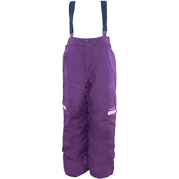 Брюки Amitola для девочки DIDRIKSONSВерхняя одежда<br>Характеристики товара:<br><br>• цвет: фиолетовый<br>• материал: 100% полиамид, подкладка 100% полиэстер<br>• утеплитель: 120 г/м<br>• сезон: зима<br>• температурный режим от +5 до -20<br>• непромокаемая и непродуваемая мембранная ткань<br>• резинки для ботинок<br>• дополнительная пропитка верха<br>• прокленные швы<br>• талия и низ штанин регулируется<br>• внутренние гетры<br>• ширинка на молнии<br>• фиксированные лямки<br>• светоотражающие детали<br>• можно увеличить длину штанин на один размер <br>• страна бренда: Швеция<br>• страна производства: Китай<br><br>Такие брюки незаменимы в холодную и сырую погоду! Это не только стильно, но еще и очень комфортно, а также тепло. Они обеспечат ребенку удобство при прогулках и активном отдыхе зимой. Брюки от шведского производителя легко трансформируются под рост ребенка и погодные условия.<br>Модель сшита из мембранной ткани, которая позволяет телу дышать, но при этом не промокает и не продувается. Очень стильная и удобная модель! Изделие качественно выполнено, сделано из безопасных для детей материалов. <br><br>Брюки для девочки от бренда DIDRIKSONS можно купить в нашем интернет-магазине.<br><br>Ширина мм: 215<br>Глубина мм: 88<br>Высота мм: 191<br>Вес г: 336<br>Цвет: лиловый<br>Возраст от месяцев: 12<br>Возраст до месяцев: 15<br>Пол: Женский<br>Возраст: Детский<br>Размер: 80,140,120,110,100,90<br>SKU: 5003855
