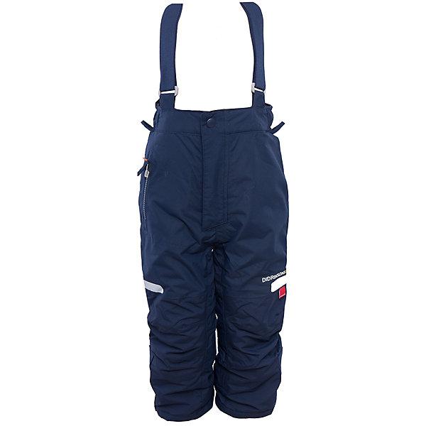 Брюки Amitola DIDRIKSONSВерхняя одежда<br>Характеристики товара:<br><br>• цвет: синий<br>• материал: 100% полиамид, подкладка 100% полиэстер<br>• утеплитель: 120 г/м<br>• сезон: зима<br>• температурный режим от +5 до -20С<br>• непромокаемая и непродуваемая мембранная ткань<br>• резинки для ботинок<br>• дополнительная пропитка верха<br>• прокленные швы<br>• талия и низ штанин регулируется<br>• внутренние гетры<br>• ширинка на молнии<br>• светоотражающие детали<br>• можно увеличить длину штанин на один размер <br>• страна бренда: Швеция<br>• страна производства: Китай<br><br>Такие брюки незаменимы в холодную и сырую погоду! Это не только стильно, но еще и очень комфортно, а также тепло. Они обеспечат ребенку удобство при прогулках и активном отдыхе зимой. Брюки от шведского производителя легко трансформируются под рост ребенка и погодные условия.<br>Модель сшита из мембранной ткани, которая позволяет телу дышать, но при этом не промокает и не продувается. Очень стильная и удобная модель! Изделие качественно выполнено, сделано из безопасных для детей материалов. <br><br>Брюки от бренда DIDRIKSONS можно купить в нашем интернет-магазине.<br>Ширина мм: 215; Глубина мм: 88; Высота мм: 191; Вес г: 336; Цвет: синий; Возраст от месяцев: 12; Возраст до месяцев: 15; Пол: Мужской; Возраст: Детский; Размер: 80,90; SKU: 5003862;