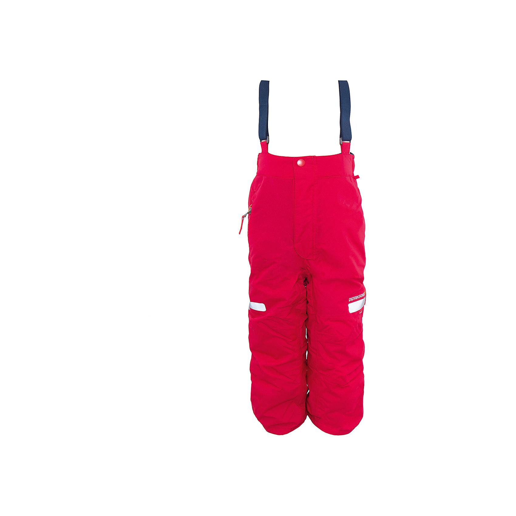 Брюки Amitola для девочки DIDRIKSONSВерхняя одежда<br>Характеристики товара:<br><br>• цвет: розовый<br>• материал: 100% полиамид, подкладка 100% полиэстер<br>• утеплитель: 120 г/м<br>• сезон: зима<br>• температурный режим от +5 до -20С<br>• непромокаемая и непродуваемая мембранная ткань<br>• резинки для ботинок<br>• дополнительная пропитка верха<br>• прокленные швы<br>• талия и низ штанин регулируется<br>• внутренние гетры<br>• ширинка на молнии<br>• фиксированные лямки<br>• светоотражающие детали<br>• можно увеличить длину штанин на один размер <br>• страна бренда: Швеция<br>• страна производства: Китай<br><br>Такие брюки незаменимы в холодную и сырую погоду! Это не только стильно, но еще и очень комфортно, а также тепло. Они обеспечат ребенку удобство при прогулках и активном отдыхе зимой. Брюки от шведского производителя легко трансформируются под рост ребенка и погодные условия.<br>Модель сшита из мембранной ткани, которая позволяет телу дышать, но при этом не промокает и не продувается. Очень стильная и удобная модель! Изделие качественно выполнено, сделано из безопасных для детей материалов. <br><br>Брюки для девочки от бренда DIDRIKSONS можно купить в нашем интернет-магазине.<br><br>Ширина мм: 215<br>Глубина мм: 88<br>Высота мм: 191<br>Вес г: 336<br>Цвет: розовый<br>Возраст от месяцев: 18<br>Возраст до месяцев: 24<br>Пол: Женский<br>Возраст: Детский<br>Размер: 90,100,80<br>SKU: 5003870