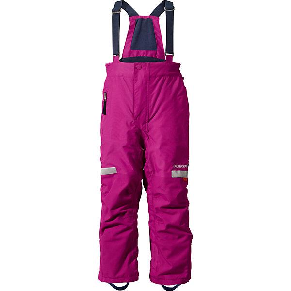 Брюки Amitola для девочки DIDRIKSONSВерхняя одежда<br>Характеристики товара:<br><br>• цвет: фиолетовый<br>• материал: 100% полиамид, подкладка 100% полиэстер<br>• утеплитель: 120 г/м<br>• сезон: зима<br>• температурный режим от +5 до -20С<br>• непромокаемая и непродуваемая мембранная ткань<br>• резинки для ботинок<br>• дополнительная пропитка верха<br>• прокленные швы<br>• талия и низ штанин регулируется<br>• внутренние гетры<br>• ширинка на молнии<br>• фиксированные лямки<br>• светоотражающие детали<br>• можно увеличить длину штанин на один размер <br>• страна бренда: Швеция<br>• страна производства: Китай<br><br>Такие брюки незаменимы в холодную и сырую погоду! Это не только стильно, но еще и очень комфортно, а также тепло. Они обеспечат ребенку удобство при прогулках и активном отдыхе зимой. Брюки от шведского производителя легко трансформируются под рост ребенка и погодные условия.<br>Модель сшита из мембранной ткани, которая позволяет телу дышать, но при этом не промокает и не продувается. Очень стильная и удобная модель! Изделие качественно выполнено, сделано из безопасных для детей материалов. <br><br>Брюки для девочки от бренда DIDRIKSONS можно купить в нашем интернет-магазине.<br><br>Ширина мм: 215<br>Глубина мм: 88<br>Высота мм: 191<br>Вес г: 336<br>Цвет: лиловый<br>Возраст от месяцев: 12<br>Возраст до месяцев: 15<br>Пол: Женский<br>Возраст: Детский<br>Размер: 80,100<br>SKU: 5003874