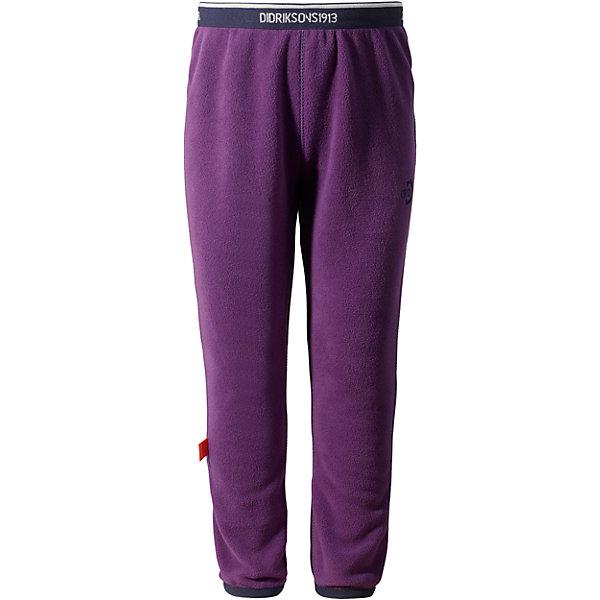 Брюки флисовые Monte Kids для девочки DIDRIKSONSФлис и термобелье<br>Характеристики товара:<br><br>• цвет: фиолетовый<br>• материал: 100% полиэстер<br>• флис<br>• резинка на поясе<br>• можно надевать под одежду<br>• страна бренда: Швеция<br>• страна производства: Китай<br><br>Такие мягкие брюки сейчас очень популярны у детей! Это не только стильно, но еще и очень комфортно, а также тепло. Качественные флисовые брюки обеспечат ребенку удобство при прогулках и активном отдыхе в прохладные дне, в межсезонье или зимой. Такая модель от шведского производителя легко стирается, подходит под разные погодные условия.<br>Модель сшита из качественной мягкой ткани, которая позволяет телу дышать, она очень приятна на ощупь. Очень стильная и удобная модель! Изделие качественно выполнено, сделано из безопасных для детей материалов. <br><br>Брюки для девочки от бренда DIDRIKSONS можно купить в нашем интернет-магазине.<br><br>Ширина мм: 215<br>Глубина мм: 88<br>Высота мм: 191<br>Вес г: 336<br>Цвет: красный<br>Возраст от месяцев: 12<br>Возраст до месяцев: 15<br>Пол: Женский<br>Возраст: Детский<br>Размер: 80,120,110,100,90<br>SKU: 5003915
