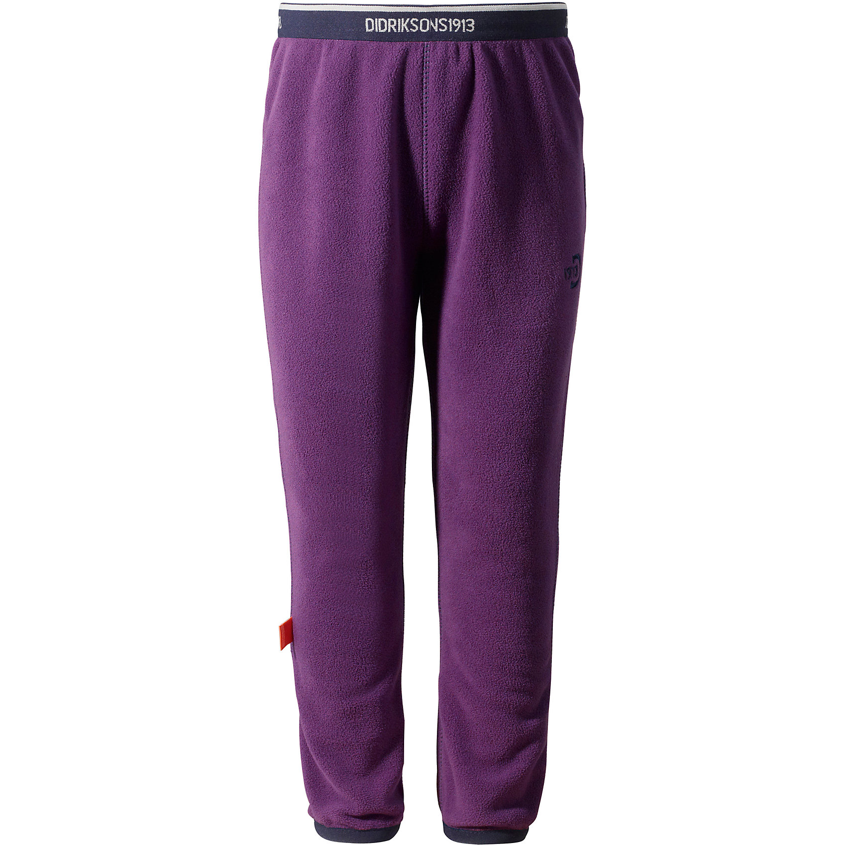 Брюки флисовые Monte Kids для девочки DIDRIKSONSФлис и термобелье<br>Характеристики товара:<br><br>• цвет: фиолетовый<br>• материал: 100% полиэстер<br>• флис<br>• резинка на поясе<br>• можно надевать под одежду<br>• страна бренда: Швеция<br>• страна производства: Китай<br><br>Такие мягкие брюки сейчас очень популярны у детей! Это не только стильно, но еще и очень комфортно, а также тепло. Качественные флисовые брюки обеспечат ребенку удобство при прогулках и активном отдыхе в прохладные дне, в межсезонье или зимой. Такая модель от шведского производителя легко стирается, подходит под разные погодные условия.<br>Модель сшита из качественной мягкой ткани, которая позволяет телу дышать, она очень приятна на ощупь. Очень стильная и удобная модель! Изделие качественно выполнено, сделано из безопасных для детей материалов. <br><br>Брюки для девочки от бренда DIDRIKSONS можно купить в нашем интернет-магазине.<br><br>Ширина мм: 215<br>Глубина мм: 88<br>Высота мм: 191<br>Вес г: 336<br>Цвет: красный<br>Возраст от месяцев: 12<br>Возраст до месяцев: 15<br>Пол: Женский<br>Возраст: Детский<br>Размер: 80,120,90,100,110<br>SKU: 5003915