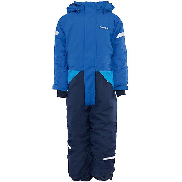 Комбинезон Tjarve для мальчика DIDRIKSONSВерхняя одежда<br>Характеристики товара:<br><br>• цвет: синий<br>• материал: 100% полиамид, подкладка 100% полиэстер<br>• утеплитель: 140 г/м<br>• сезон: зима<br>• температурный режим от +5 до -15С<br>• непромокаемая и непродуваемая мембранная ткань<br>• резинки для ботинок<br>• дополнительная пропитка верха<br>• прокленные швы<br>• регулируемый съемный капюшон<br>• талия, манжеты и ширина брючины регулируется<br>• внутренние гетры<br>• внутренние трикотажные манжеты<br>• фронтальная молния под планкой<br>• светоотражающие детали<br>• можно увеличить длину рукавов и штанин на один размер <br>• страна бренда: Швеция<br>• страна производства: Китай<br><br>Такой комбинезон незаменим зимой! Это не только стильно, но еще и очень комфортно, а также тепло. Он обеспечит ребенку удобство при прогулках и активном отдыхе зимой. Комбинезон от шведского производителя легко трансформируется под рост ребенка и погодные условия.<br>Модель сшита из мембранной ткани, которая позволяет телу дышать, но при этом не промокает и не продувается. Очень стильная и удобная модель! Изделие качественно выполнено, сделано из безопасных для детей материалов. <br><br>Комбинезон для мальчика от бренда DIDRIKSONS можно купить в нашем интернет-магазине.<br><br>Ширина мм: 356<br>Глубина мм: 10<br>Высота мм: 245<br>Вес г: 519<br>Цвет: синий<br>Возраст от месяцев: 12<br>Возраст до месяцев: 15<br>Пол: Мужской<br>Возраст: Детский<br>Размер: 80,110,90,130,120,100<br>SKU: 5003942