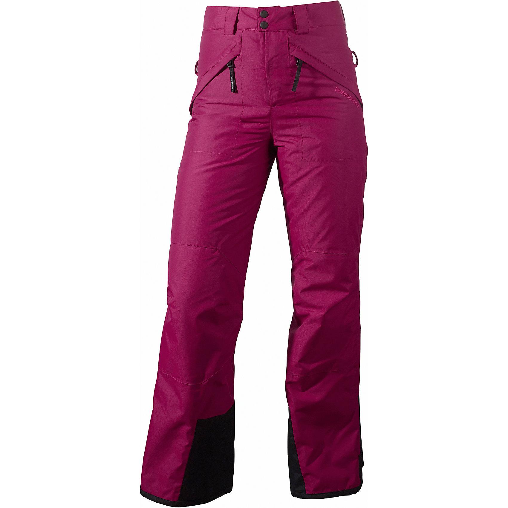 Брюки Svea для девочки DIDRIKSONSВерхняя одежда<br>Характеристики товара:<br><br>• цвет: фиолетовый<br>• материал: 100% полиамид, подкладка 100% полиэстер<br>• утеплитель: 60 г/м<br>• сезон: зима, демисезон<br>• температурный режим от +5 до -10С<br>• непромокаемая и непродуваемая мембранная ткань<br>• высокая посадка<br>• дополнительная пропитка верха<br>• прокленные швы<br>• талия и низ штанин регулируется<br>• внутренние гетры<br>• ширинка на молнии<br>• страна бренда: Швеция<br>• страна производства: Китай<br><br>Такие брюки незаменимы в холодную и сырую погоду! Это не только стильно, но еще и очень комфортно, а также тепло. Они обеспечат ребенку удобство при прогулках и активном отдыхе зимой. Брюки от шведского производителя отлично подойдут под российские погодные условия.<br>Модель сшита из мембранной ткани, которая позволяет телу дышать, но при этом не промокает и не продувается. Очень стильная и удобная модель! Изделие качественно выполнено, сделано из безопасных для детей материалов. <br><br>Брюки для девочки от бренда DIDRIKSONS можно купить в нашем интернет-магазине.<br><br>Ширина мм: 215<br>Глубина мм: 88<br>Высота мм: 191<br>Вес г: 336<br>Цвет: фиолетовый<br>Возраст от месяцев: 132<br>Возраст до месяцев: 144<br>Пол: Женский<br>Возраст: Детский<br>Размер: 150,170,160<br>SKU: 5003962