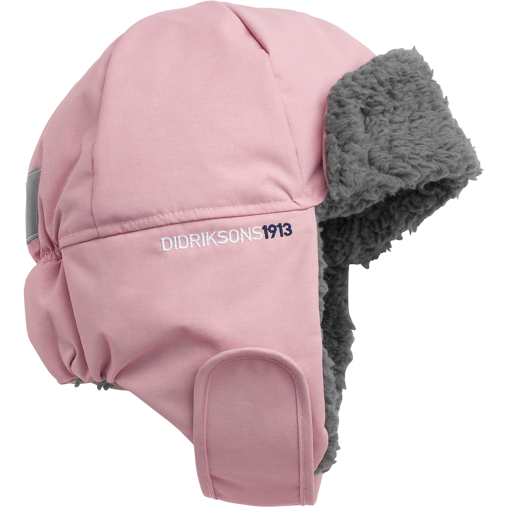Шапка Biggles для девочки DIDRIKSONSХарактеристики товара:<br><br>• цвет: розовый<br>• материал: 100% полиамид, подкладка 100% полиэстер<br>• утеплитель: 60 г/м<br>• сезон: зима<br>• температурный режим от +5 до -20С<br>• непромокаемая и непродуваемая мембранная ткань<br>• подкладка из искусственного меха<br>• дополнительная пропитка верха<br>• прокленные швы<br>• застежка: липучка<br>• защита ушей от холода<br>• страна бренда: Швеция<br>• страна производства: Китай<br><br>Такие шапки сейчас на пике молодежной моды! Это не только стильно, но еще и очень комфортно, а также тепло. Эта качественная шапка обеспечит ребенку удобство при прогулках и активном отдыхе зимой. Такая модель от шведского производителя отлично смотрится с разной верхней одеждой.<br>Шапка сшита из мембранной ткани, которая позволяет телу дышать, но при этом не промокает и не продувается. Очень стильная и удобная модель! Изделие качественно выполнено, сделано из безопасных для детей материалов. <br><br>Шапку для девочки от бренда DIDRIKSONS можно купить в нашем интернет-магазине.<br><br>Ширина мм: 89<br>Глубина мм: 117<br>Высота мм: 44<br>Вес г: 155<br>Цвет: розовый<br>Возраст от месяцев: 48<br>Возраст до месяцев: 60<br>Пол: Женский<br>Возраст: Детский<br>Размер: 52,56,54<br>SKU: 5004005