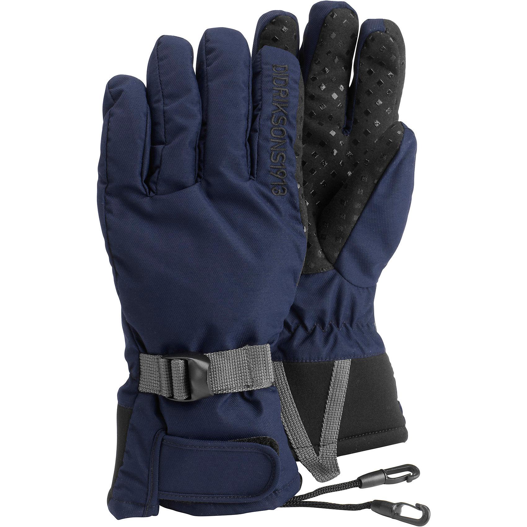 Перчатки Five DIDRIKSONSПерчатки, варежки<br>Характеристики товара:<br><br>• цвет: голубой<br>• материал: 100% полиамид, подкладка 100% полиэстер<br>• утеплитель: 60 г/м<br>• сезон: зима<br>• температурный режим от +5 до -20С<br>• непромокаемая и непродуваемая мембранная ткань<br>• подкладка из флиса<br>• регуляторы объема<br>• шнур для пристегивания<br>• внутренняя сторона отделана прорезиненной тканью против скольжения<br>• страна бренда: Швеция<br>• страна производства: Китай<br><br>Такие теплые перчатки обязательно нужны ребенку, который собирается наслаждаться зимним отдыхом! Это не только стильно, но еще и очень комфортно, а также тепло. Эти качественные перчатки обеспечат ребенку удобство при прогулках и активном отдыхе зимой. Такая модель от шведского производителя отлично смотрится с разной верхней одеждой.<br>Перчатки сшиты из мембранной ткани, которая позволяет телу дышать, но при этом не промокает и не продувается. Очень стильная и удобная модель! Изделие качественно выполнено, сделано из безопасных для детей материалов. <br><br>Перчатки от бренда DIDRIKSONS можно купить в нашем интернет-магазине.<br><br>Ширина мм: 162<br>Глубина мм: 171<br>Высота мм: 55<br>Вес г: 119<br>Цвет: голубой<br>Возраст от месяцев: 132<br>Возраст до месяцев: 144<br>Пол: Унисекс<br>Возраст: Детский<br>Размер: 6/7,5/6,7/8<br>SKU: 5004083