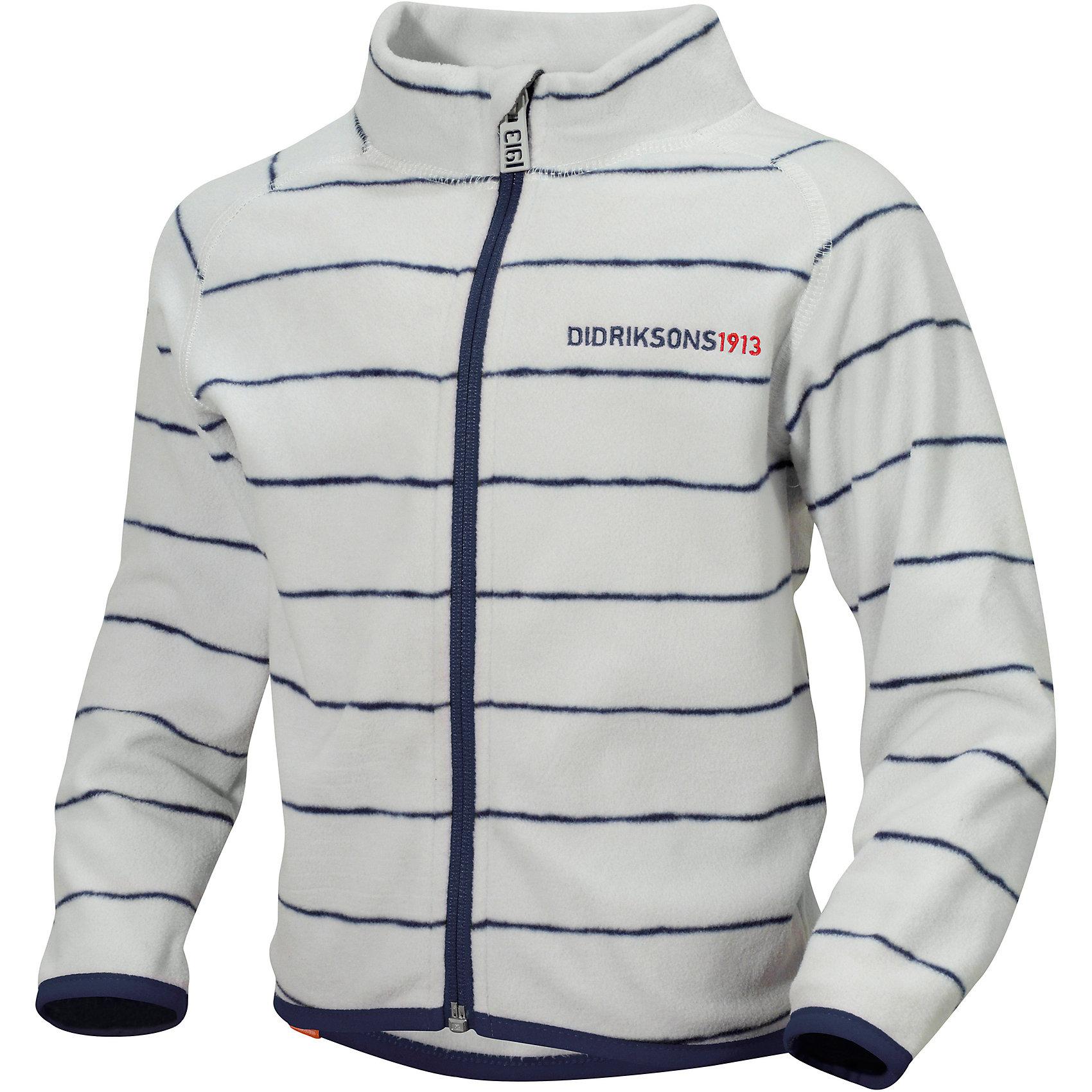 Куртка флисовая Monte Printed DIDRIKSONSХарактеристики товара:<br><br>• цвет: бело-серый<br>• материал: 100% полиэстер<br>• флис<br>• длинные рукава<br>• застежка: молния<br>• страна бренда: Швеция<br>• страна производства: Китай<br><br>Такие мягкие кофты сейчас очень популярны у детей! Это не только стильно, но еще и очень комфортно, а также тепло. Такая качественная кофта обеспечит ребенку удобство при прогулках и активном отдыхе в прохладные дне, в межсезонье или зимой. Такая модель от шведского производителя легко стирается, подходит под разные погодные условия.<br>Кофта сшита из качественной мягкой ткани, которая позволяет телу дышать, она очень приятна на ощупь. Очень стильная и удобная модель! Изделие качественно выполнено, сделано из безопасных для детей материалов. <br><br>Куртку от бренда DIDRIKSONS можно купить в нашем интернет-магазине.<br><br>Ширина мм: 356<br>Глубина мм: 10<br>Высота мм: 245<br>Вес г: 519<br>Цвет: бело-серый<br>Возраст от месяцев: 12<br>Возраст до месяцев: 15<br>Пол: Унисекс<br>Возраст: Детский<br>Размер: 80,110,90,100<br>SKU: 5004102