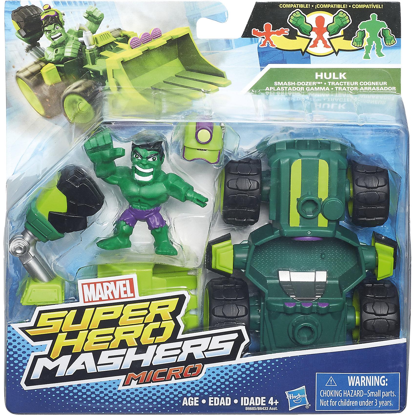 Hasbro Набор Микро-Фигурка + Машина Марвел, HEROMASHERS фигурки игрушки hasbro набор микро фигурок марвел