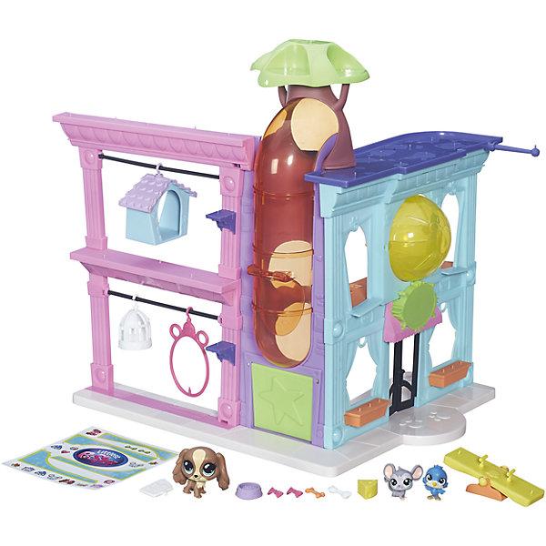 Игровой набор Зоомагазин, Little Pet ShopИгрушки<br>Игровой набор Зоомагазин, Little Pet Shop<br><br>Характеристики:<br><br>• Возраст: от 3 лет<br>• Материал: пластик<br>• В наборе: детали для сборки зоомагазина, 3 фигурки, бабл, аксессуары, стикеры<br><br>Зоомагазин с героями любимого мультсериала «Маленький зоомагазинчик». Набор состоит из целого зоомагазина, сделанного по мотивам хорошо-известного из мультсериала. Ребенок сможет расставить мебель, украсить ее и даже создать собственный дизайн магазина с животными. Маленькие герои из комплекта будут владельцами или посетителями по желанию малыша. Набор изготовлен из качественного и безопасного материала.<br><br>Игровой набор Зоомагазин, Little Pet Shop можно купить в нашем интернет-магазине.<br><br>Ширина мм: 76<br>Глубина мм: 432<br>Высота мм: 327<br>Вес г: 1289<br>Возраст от месяцев: 48<br>Возраст до месяцев: 144<br>Пол: Женский<br>Возраст: Детский<br>SKU: 5004431