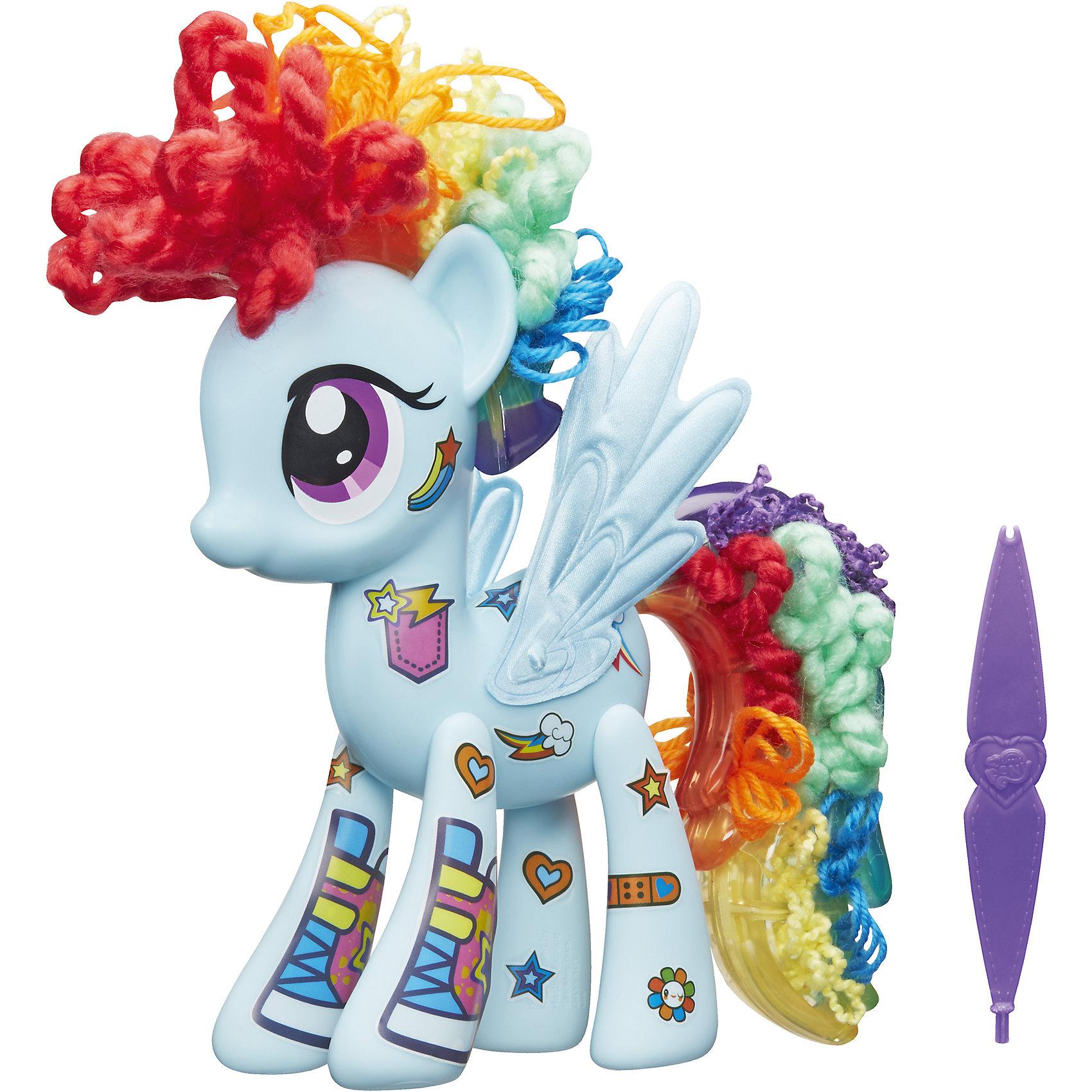 Игровой набор Создай свою пони, My little PonyХочешь создать самую красивую и необычную пони во всей Эквестрии? В наборе специальный инструмент и 100 кусочков пряди для создания уникального хвоста и гривы!<br><br>Ширина мм: 67<br>Глубина мм: 279<br>Высота мм: 279<br>Вес г: 562<br>Возраст от месяцев: 48<br>Возраст до месяцев: 144<br>Пол: Женский<br>Возраст: Детский<br>SKU: 5004432