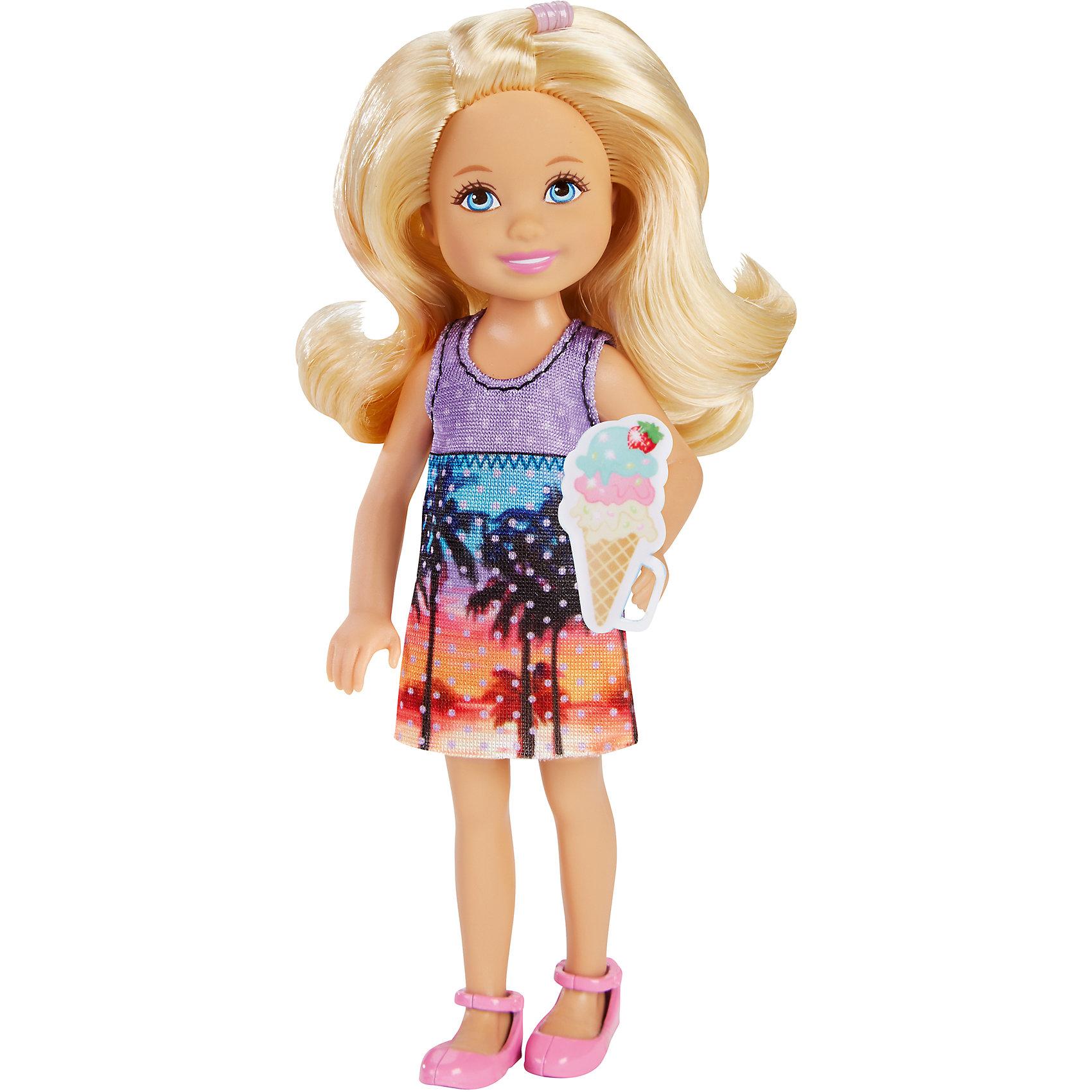 Mattel Кукла Челси с аксессуарами, Barbie кукла barbie mattel barbie радужная принцесса с волшебными волосами в ассортименте dpp90