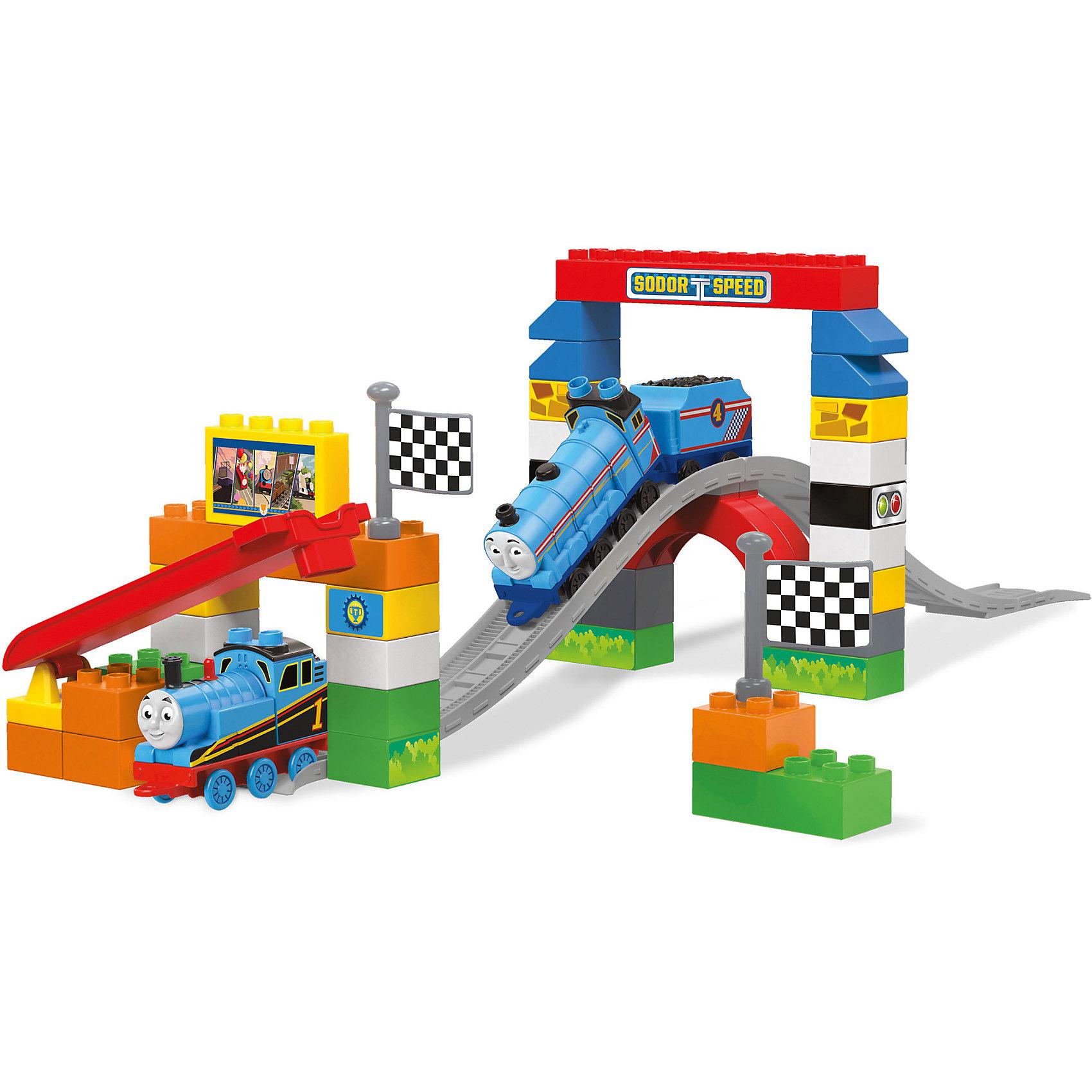 Большая гонка Томаса, Томас и его друзья, MEGA BLOKSПластмассовые конструкторы<br>Гонки завораживают всем мальчиков с раннего детства. Новая игрушка позволяет построить гоночную трассу самостоятельно и украсить ее тематическими стикерами. Большая гонка представляет собой трассу, по которой можно пустить прокатиться Томаса и его друзей со стартовой площадки. Игрушка упакована в удобную переносную сумку, которая обеспечивает компактное хранение. Материалы, использованные при изготовлении игрушек, полностью безопасны для детей и отвечают всем требованиям по качеству.<br><br>Дополнительная информация: <br><br>цвет: разноцветный;<br>количество деталей: 58;<br>возраст: 2-5 лет;<br>материал: пластик.<br><br>Большую гонку Томаса, Томас и его друзья, MEGA BLOKS от компании Mattel можно приобрести в нашем магазине.<br><br>Ширина мм: 85<br>Глубина мм: 405<br>Высота мм: 290<br>Вес г: 1120<br>Возраст от месяцев: 24<br>Возраст до месяцев: 60<br>Пол: Мужской<br>Возраст: Детский<br>SKU: 5004460